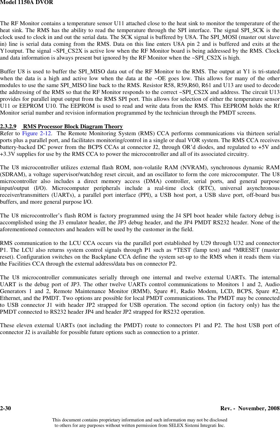 Selex Sistemi Integrati Vor2 Vor Transmitter User Manual 571150a 0002