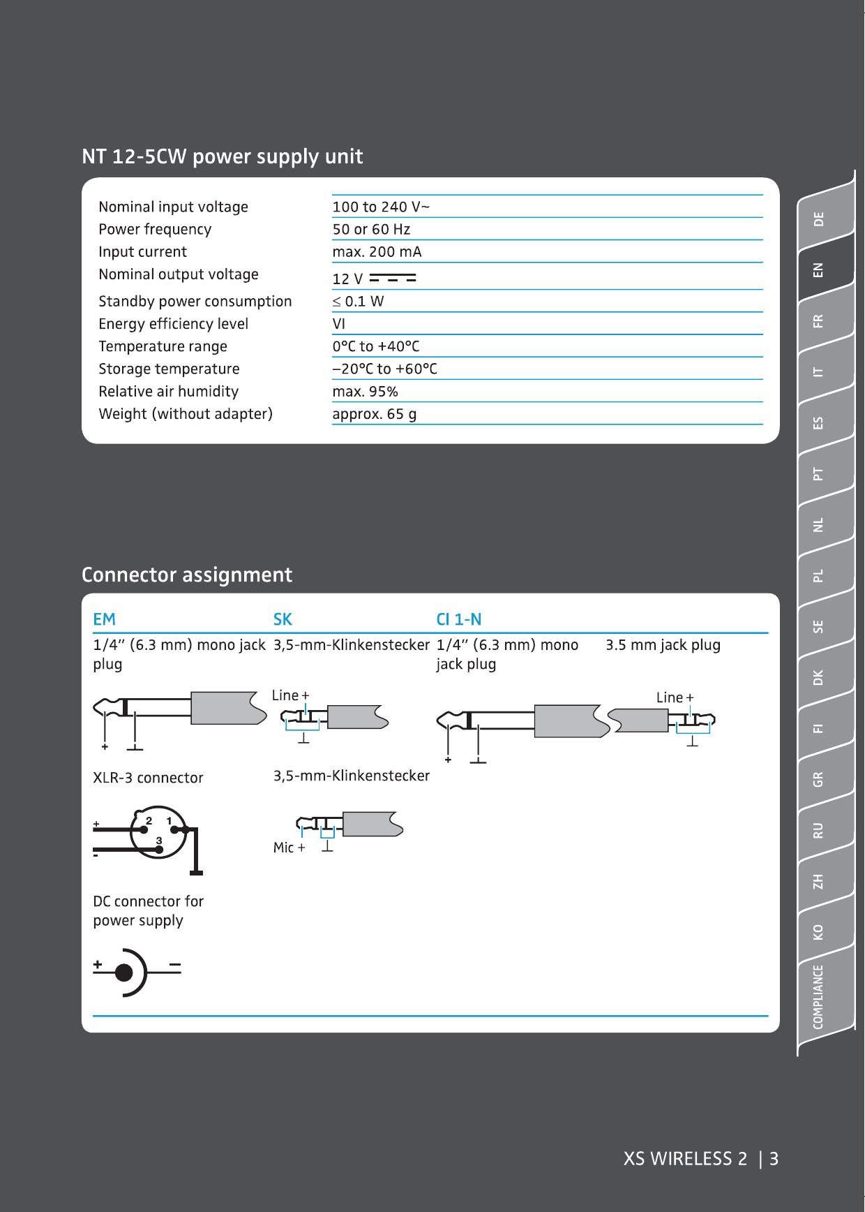 Sennheiser Ci1 Wiring Diagram Electrical Diagrams Microphone Electronic Emxsw2 Wireless Transmitter User Manual