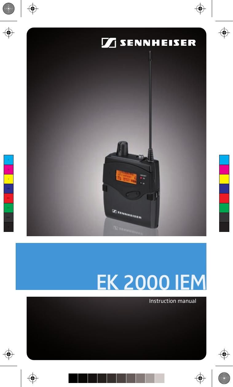 Sennheiser Ek 2000 Iem Users Manual