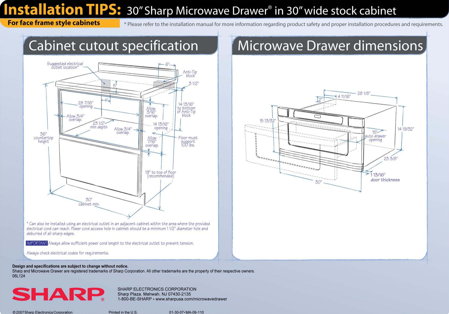 Face Frame Cabinet Microwave Drawer
