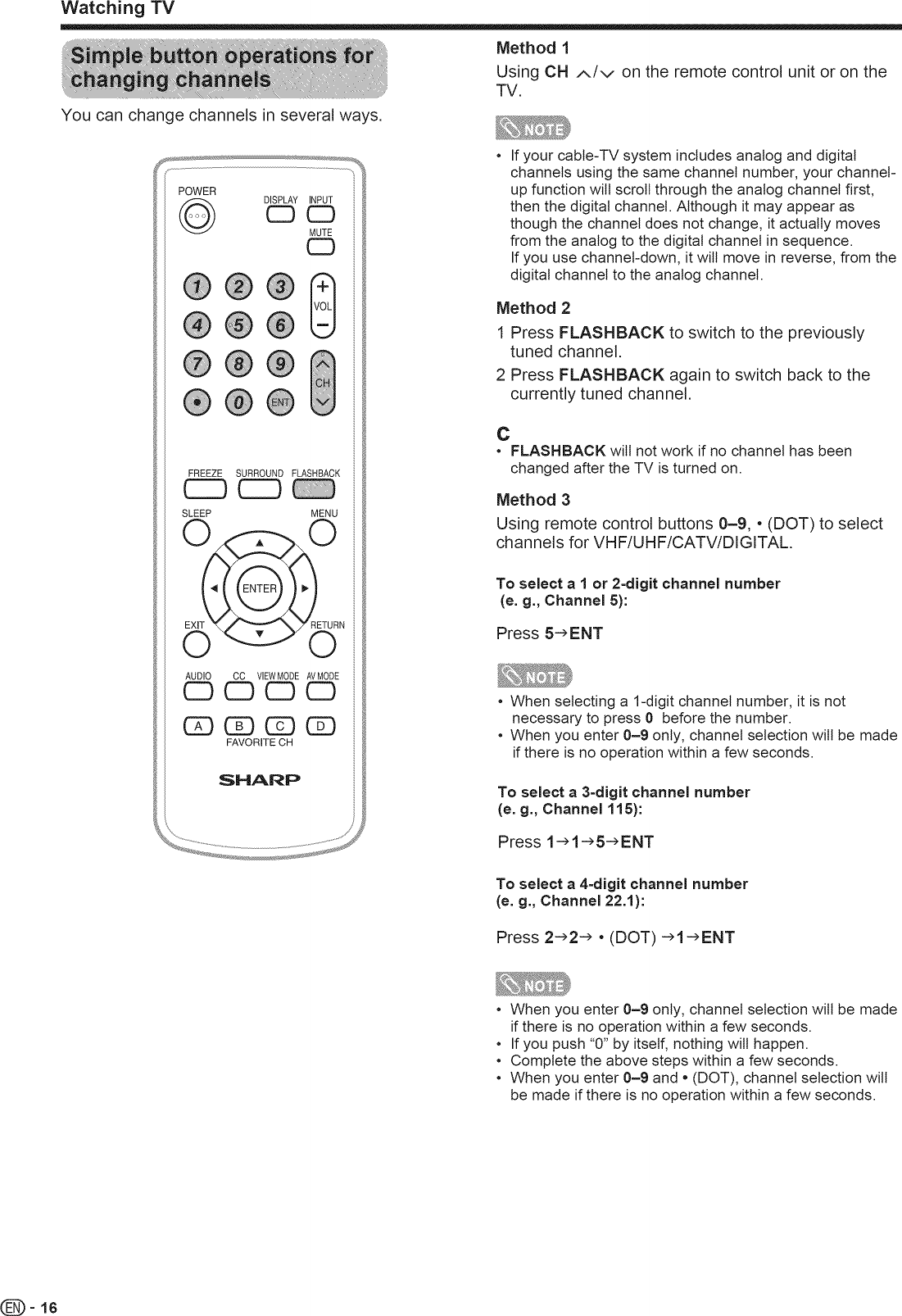 Sharp LC 32SH20U User Manual LCD TELEVISION Manuals And