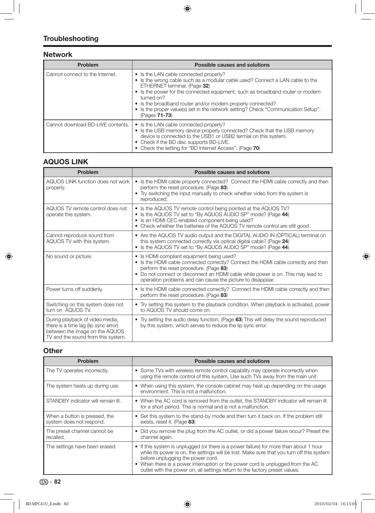 Sharp Aquos 10P02 Ma Nm Users Manual