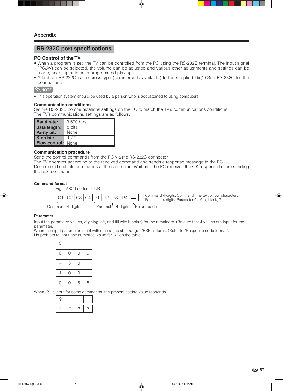Sharp Aquos Lc 26Ga5U Users Manual Operation