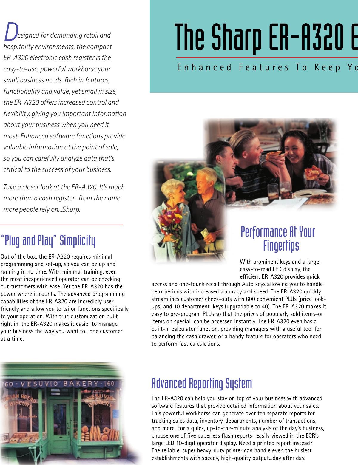 Sharp Er A320 Brochure
