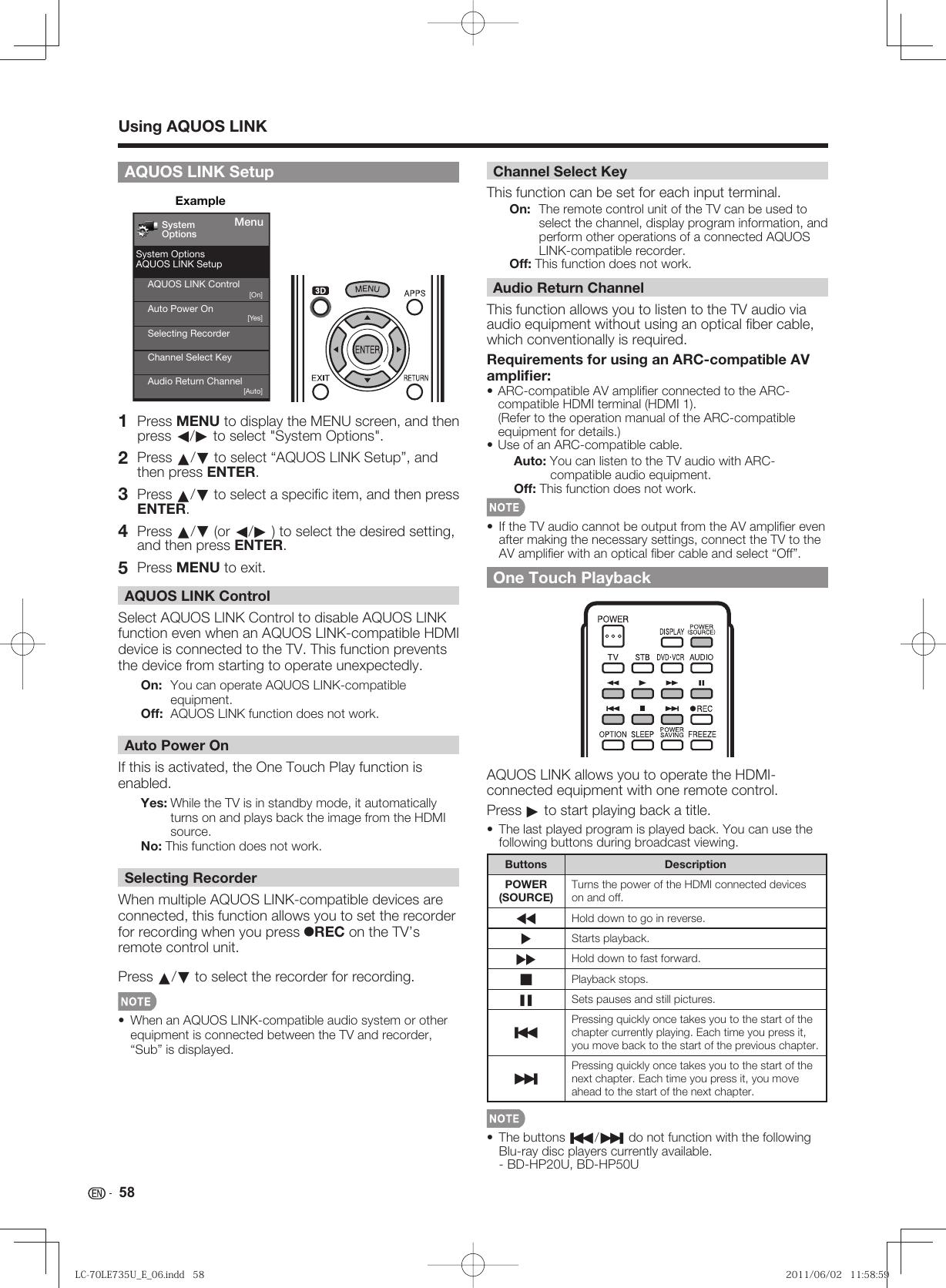 Sharp Lc70Le735U Users Manual LC 70LE735U_E