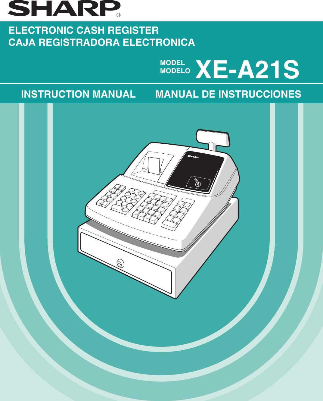 sharp cash register xe a21s users manual rh usermanual wiki Paper Cash Register XE-A21S Sharp XE A23S Cash Register