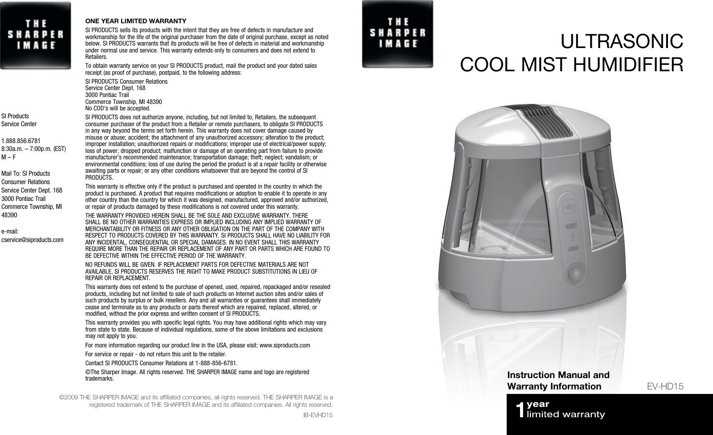 Homedics Ultrasonic Cool Mist Humidifier Instruction Manual Manual Guide