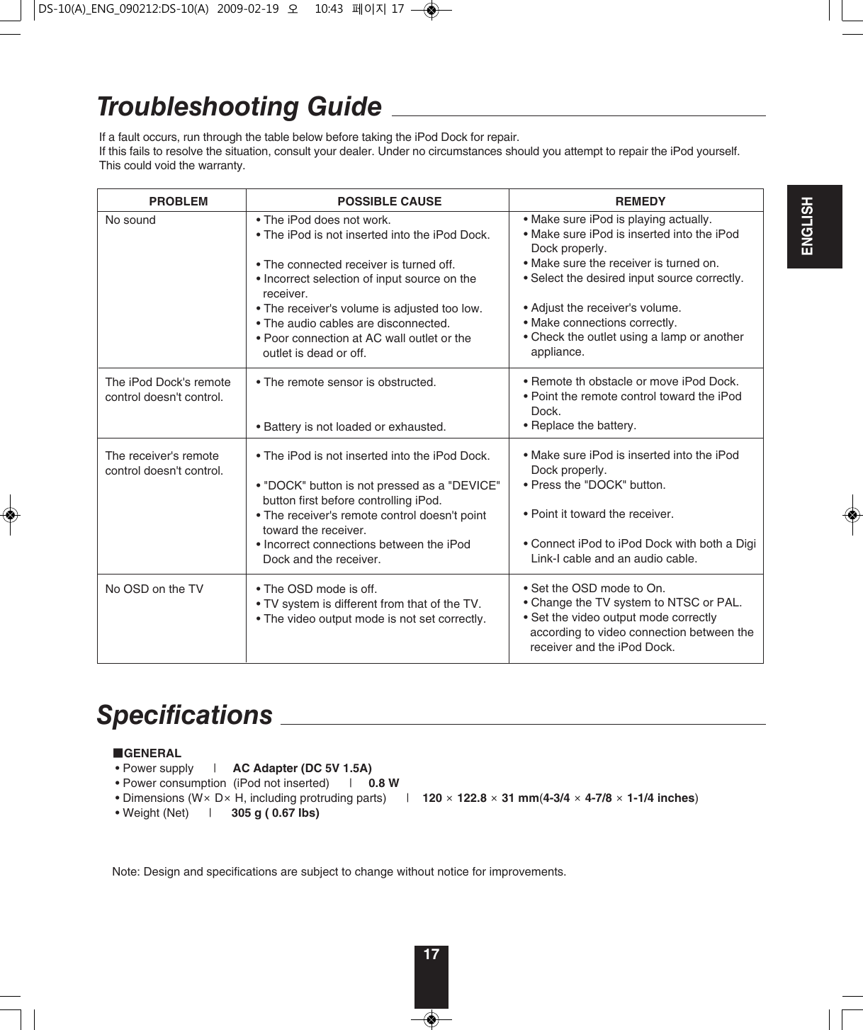 Sherwood Ds 10 Users Manual 10(A)