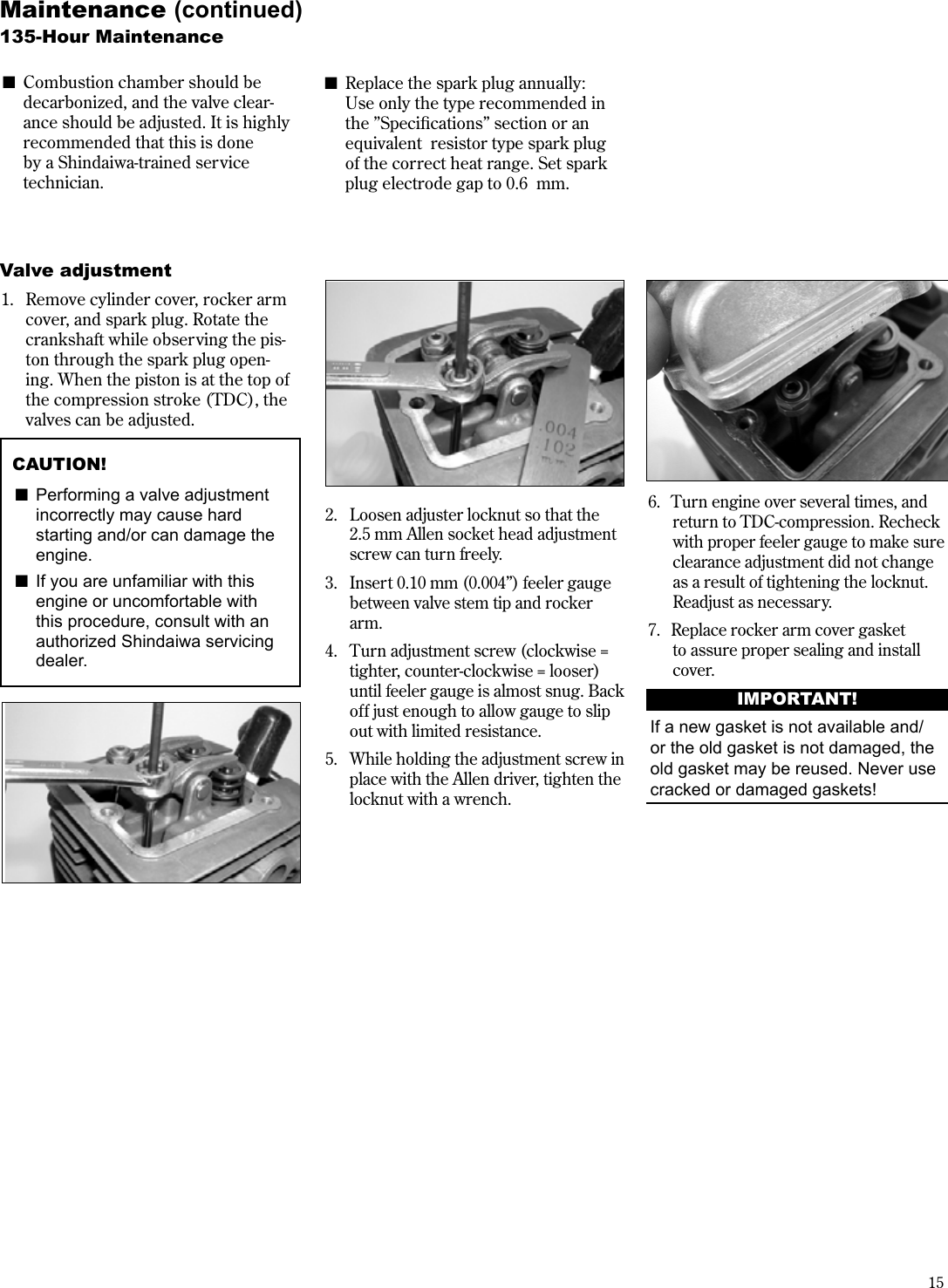 Shindaiwa M254 Users Manual