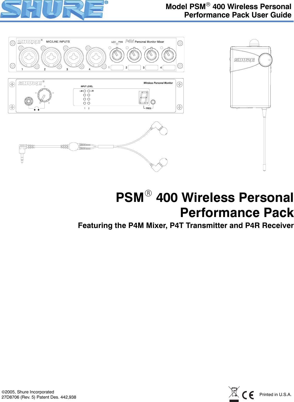 shure orporated p4ta wireless personal monitor user manual shure psm rh usermanual wiki shure workbench user guide shure sm57 user guide