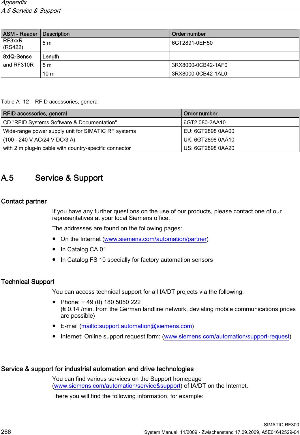 Siemens RF350R01 RFID System User Manual SIMATIC RF300