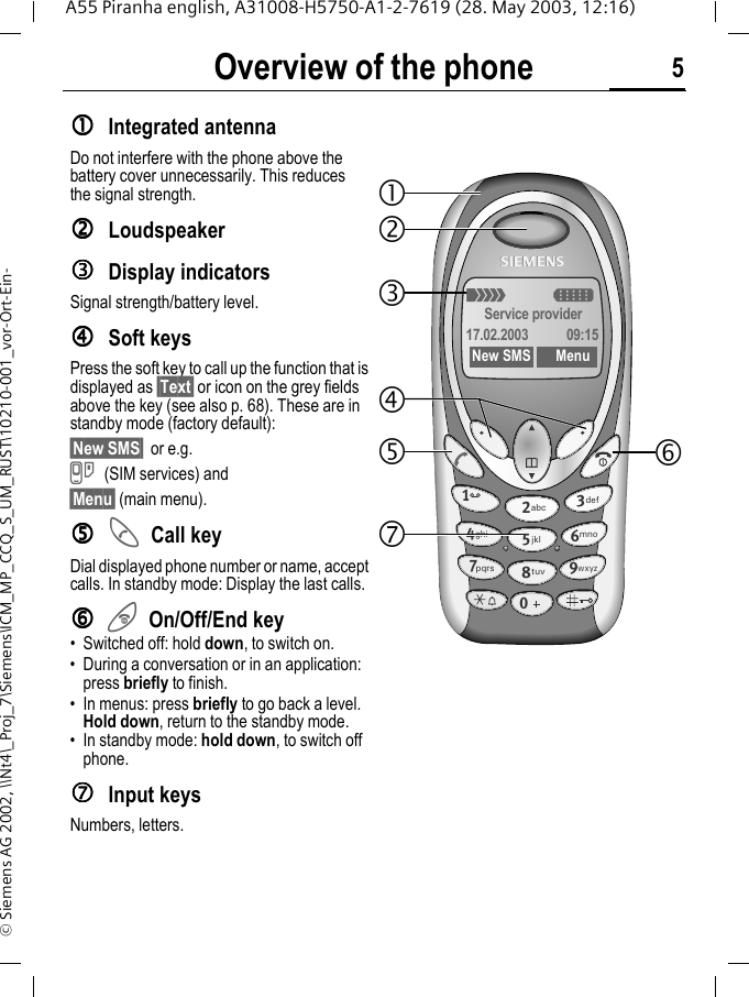 5 vor 12 sms