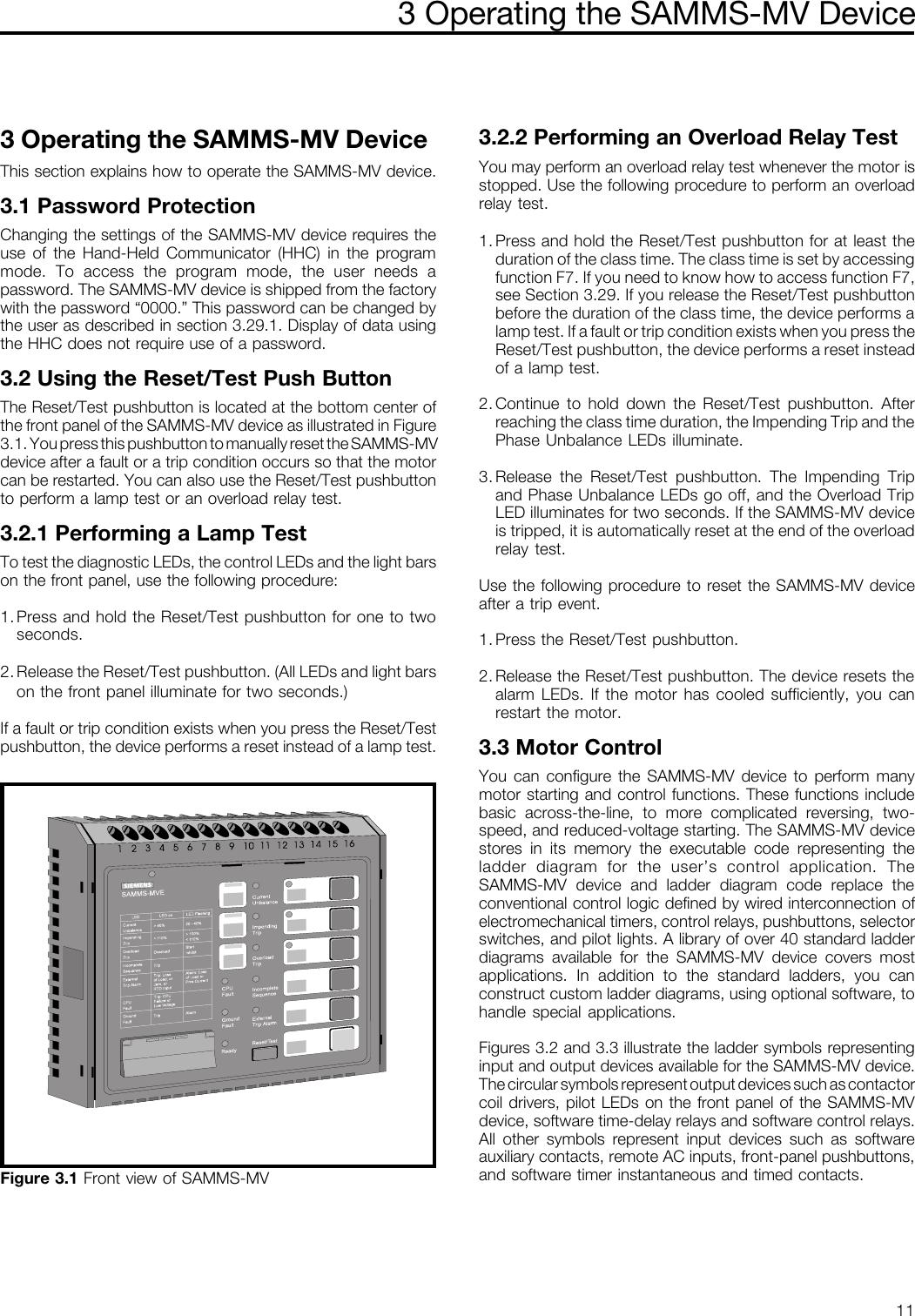 Siemens Advanced Motor Master System For Medium Voltage Motors Samms