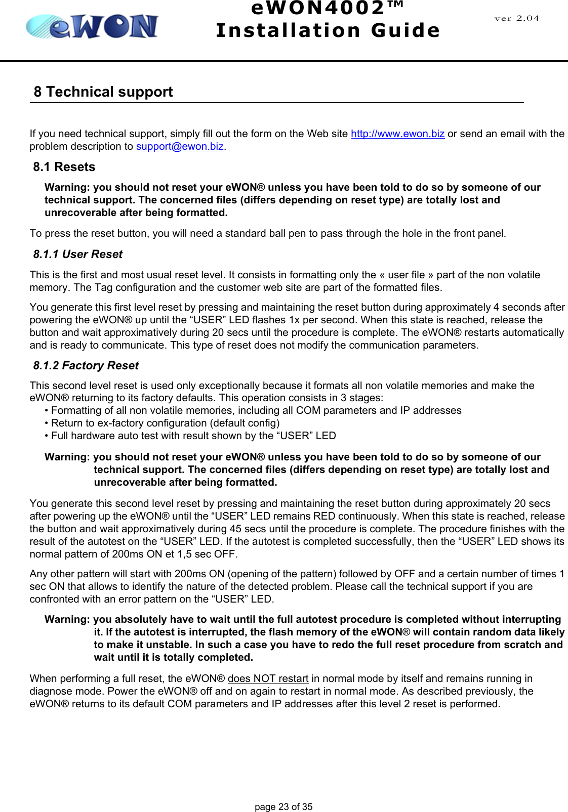 Siemens Ewon4002 Users Manual EWON4002™ IG_UK