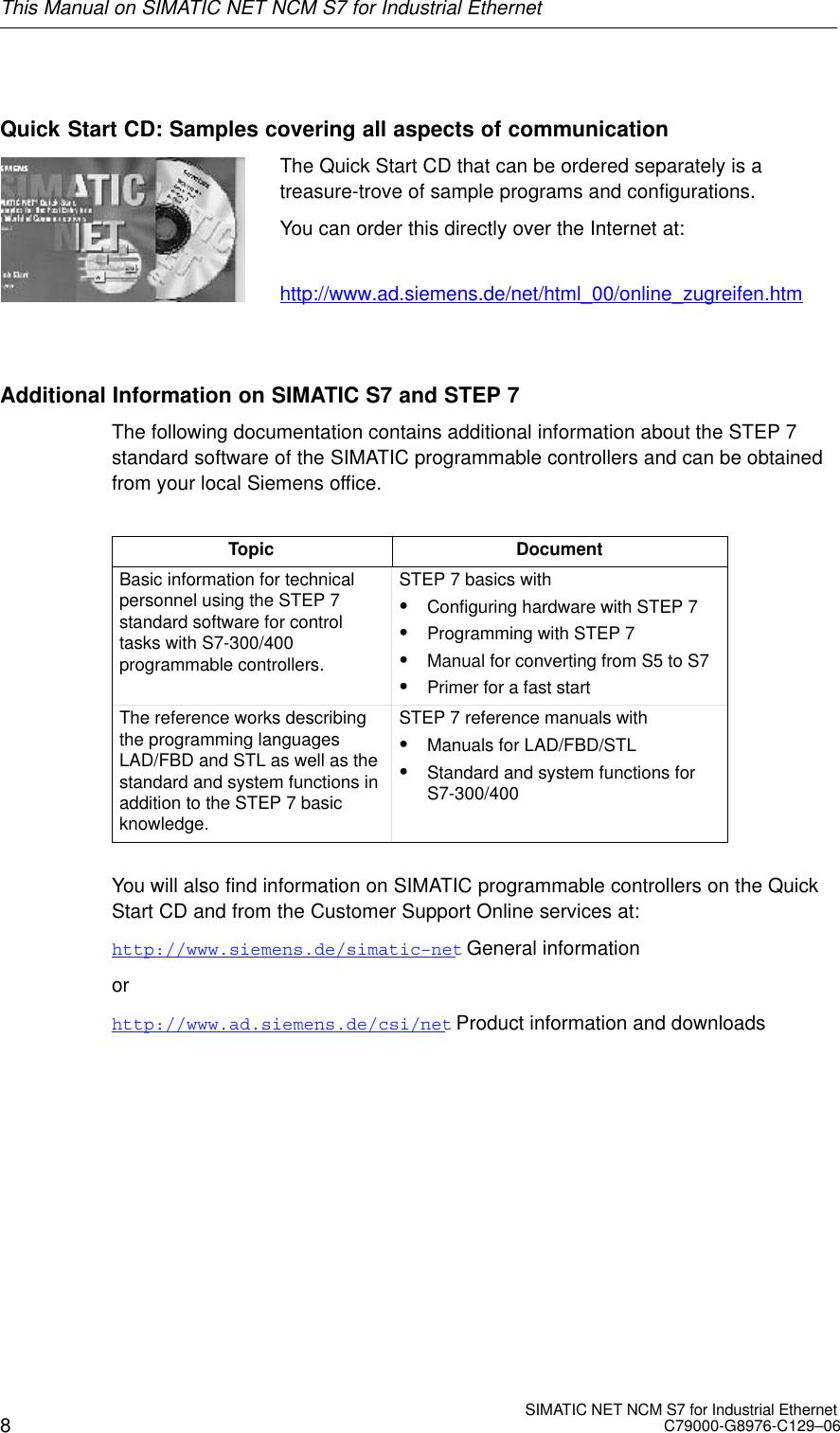 Siemens S7 Users Manual SIMATIC NET