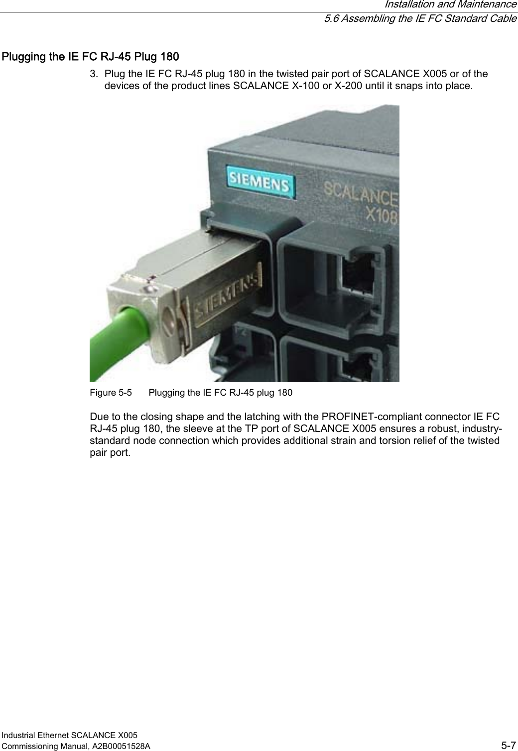Siemens X005 Users Manual Industrial Ethernet SCALANCE