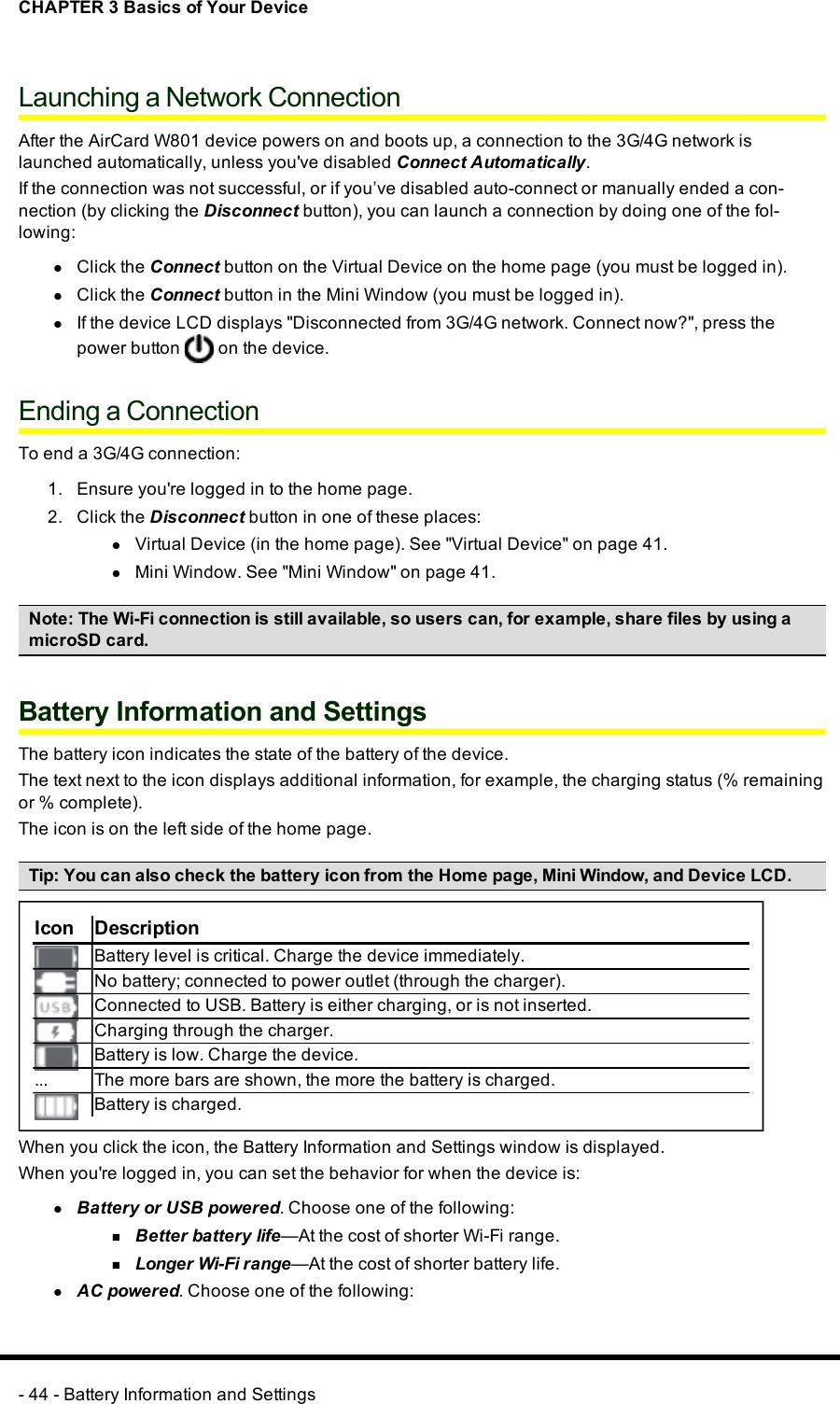Sierra Wireless MHS801 WiMAX + WiFi Router User Manual User Guide