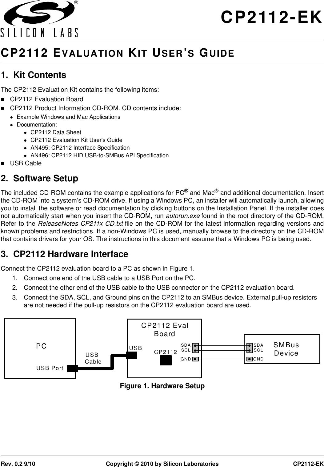 Silicon Laboratories Cp2112 Ek Users Manual Evaluation Kit