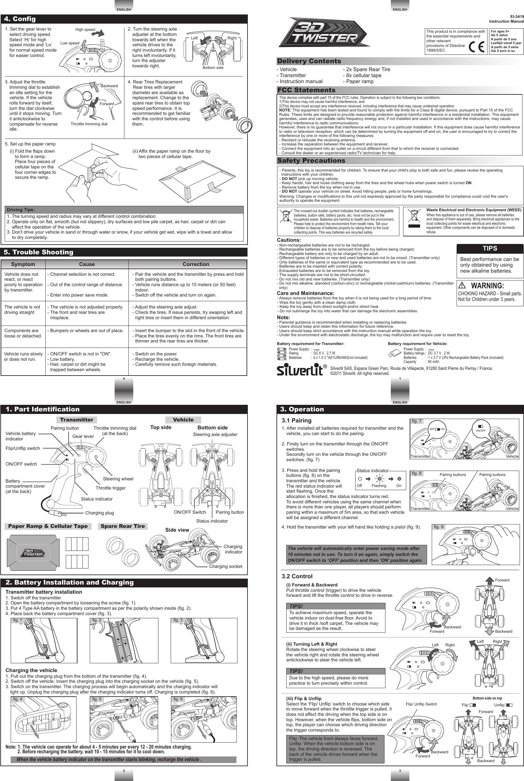 Black Short Straight 3 Manual Guide