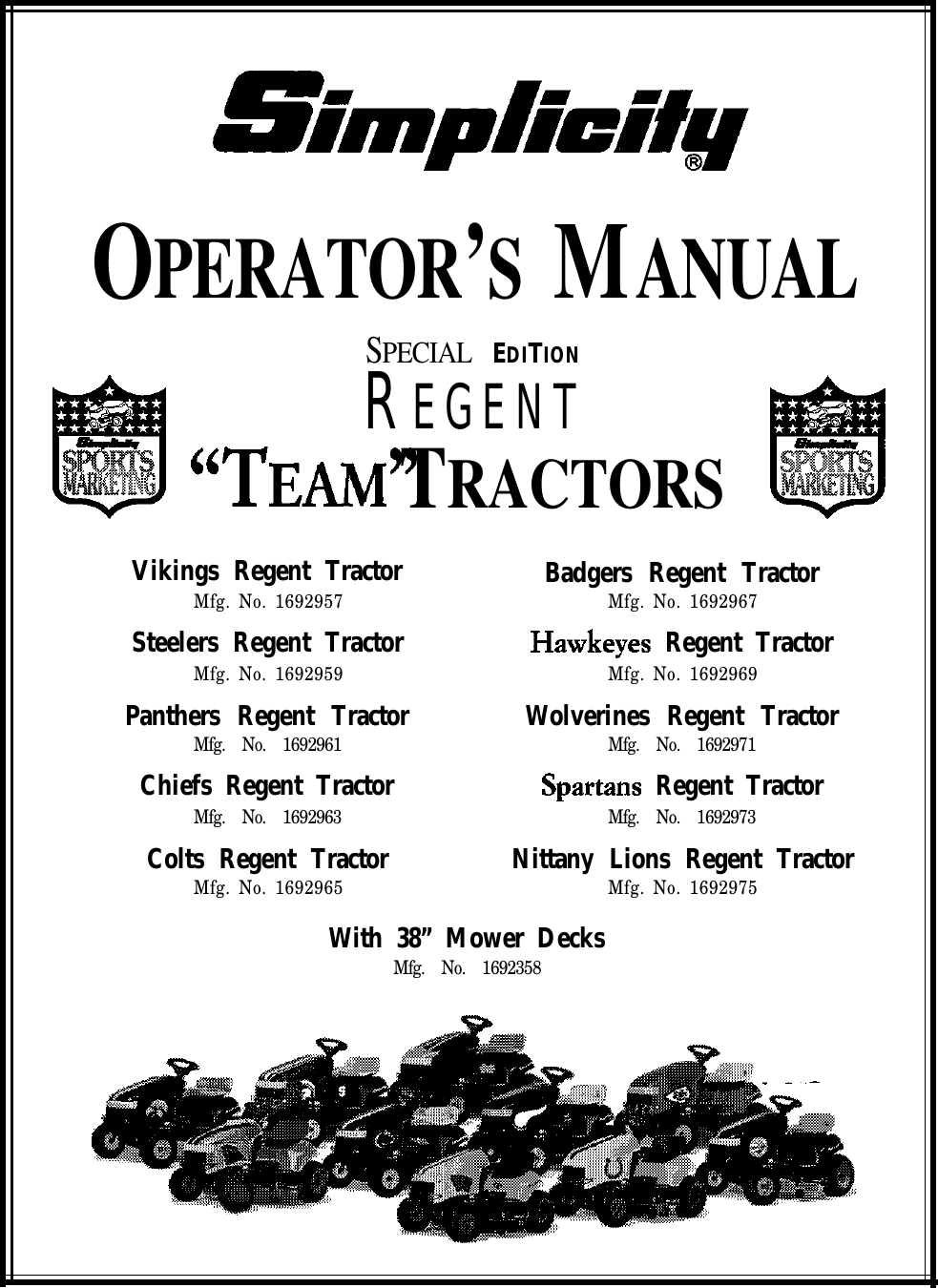 Simplicity 1692358 Operators Manual Tractor Ignition Wiring Diagram