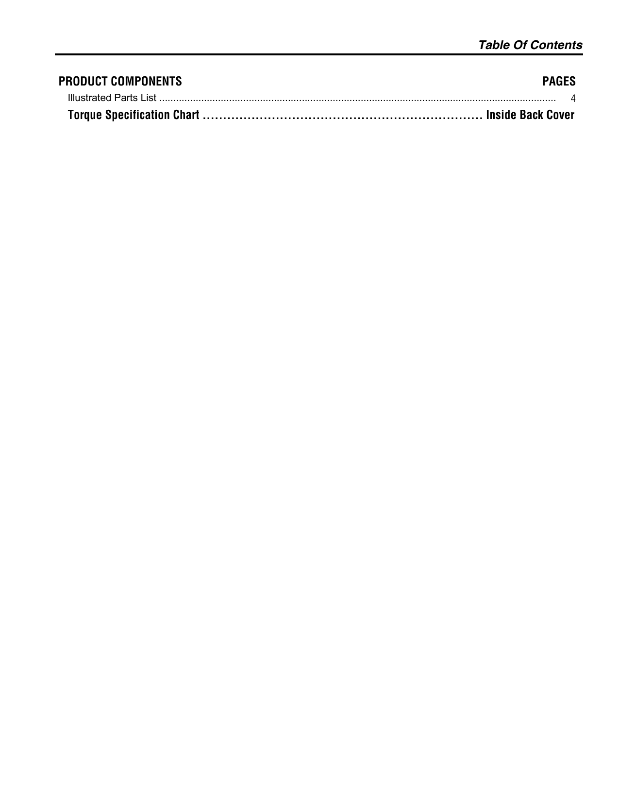 Simplicity 1694500 Parts Manual PartsManual