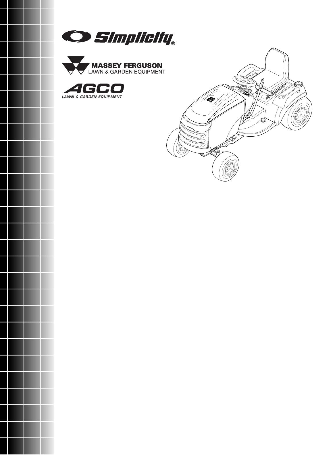 Simplicity Conquest 2700 Parts Manual / 1700 Series Garden Tractors