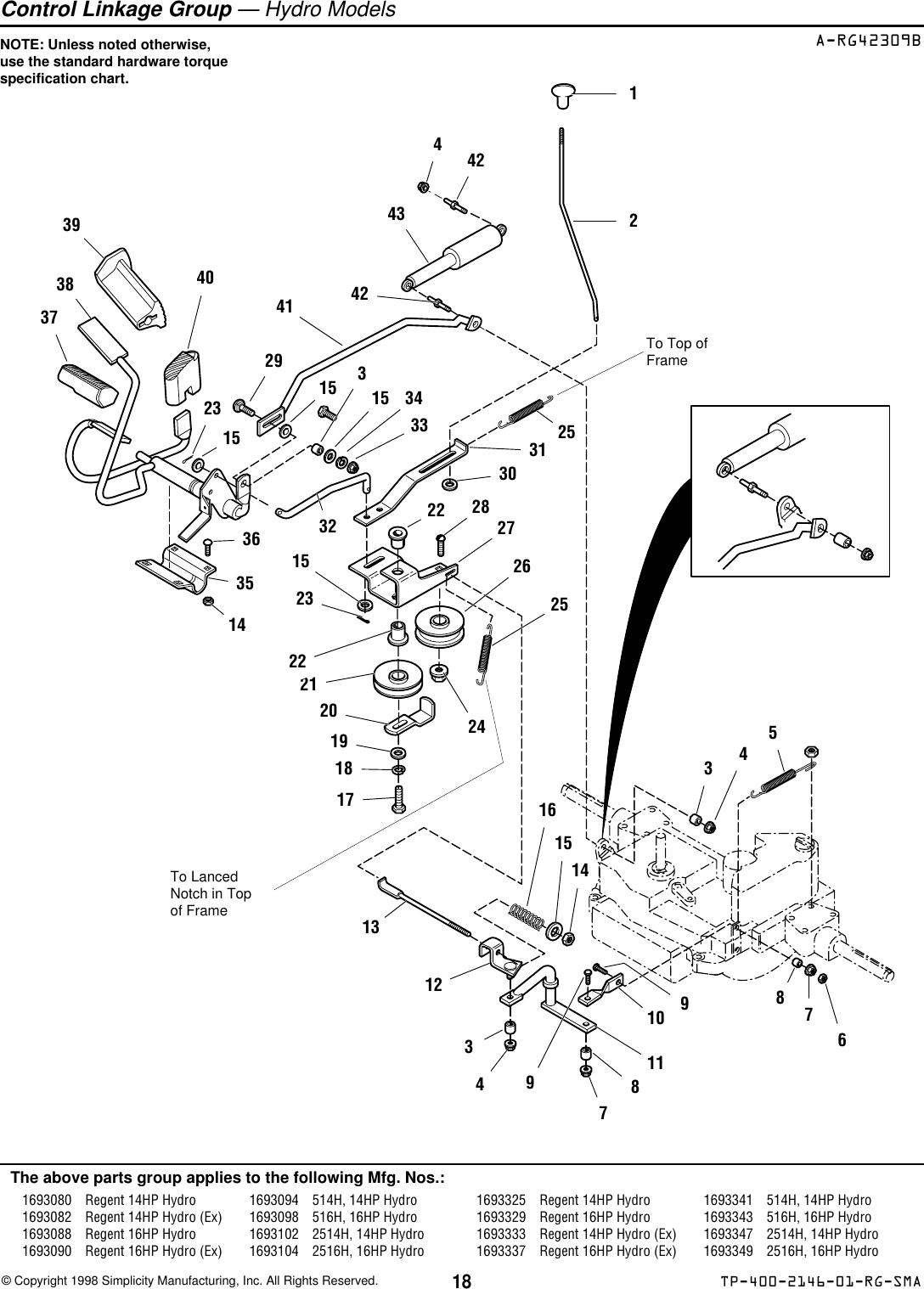 Simplicity Regent 500 Parts Manual TP_400_2146_01_RG_SMA