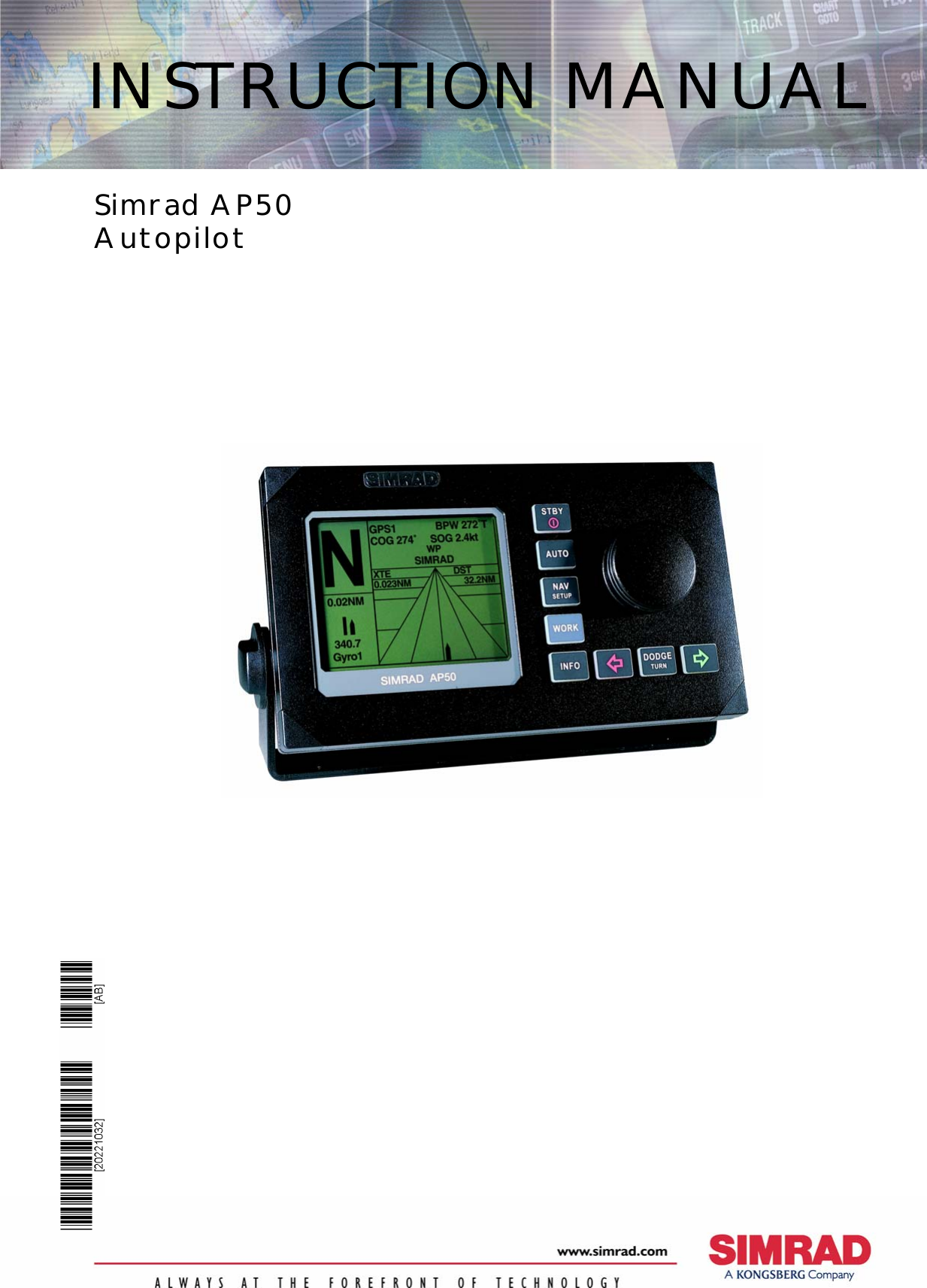 Simrad Autopilot System Ap50 Users Manual INSTRUCTION