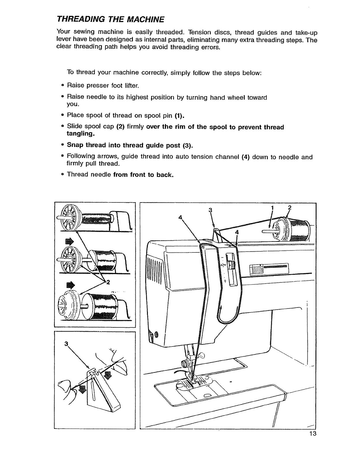 Singer 9134 User Manual Mechanical Sewing Machine Manuals And Guides Parts Diagram Threading The Your