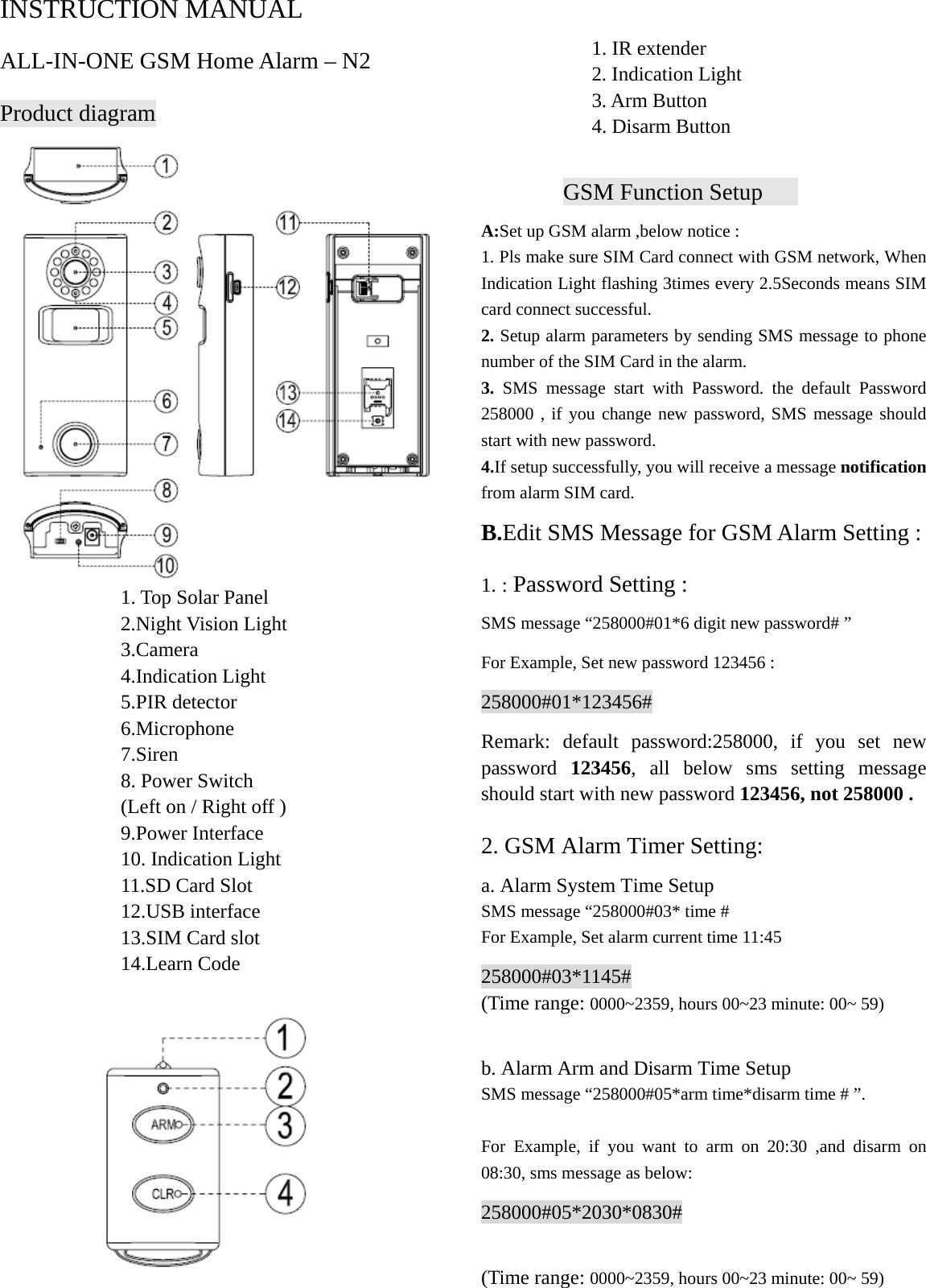 Sinopine Technology N2 Gsm Camera Alarm Security System User Manual Code 3 Siren Wiring Diagram