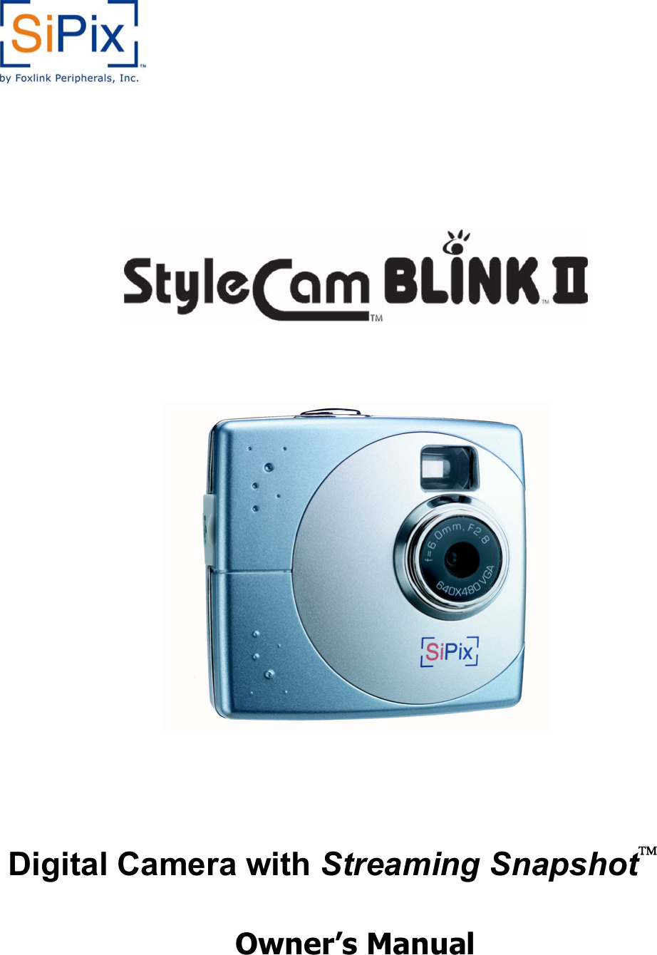 STYLECAM BLINK II DRIVERS FOR WINDOWS 8