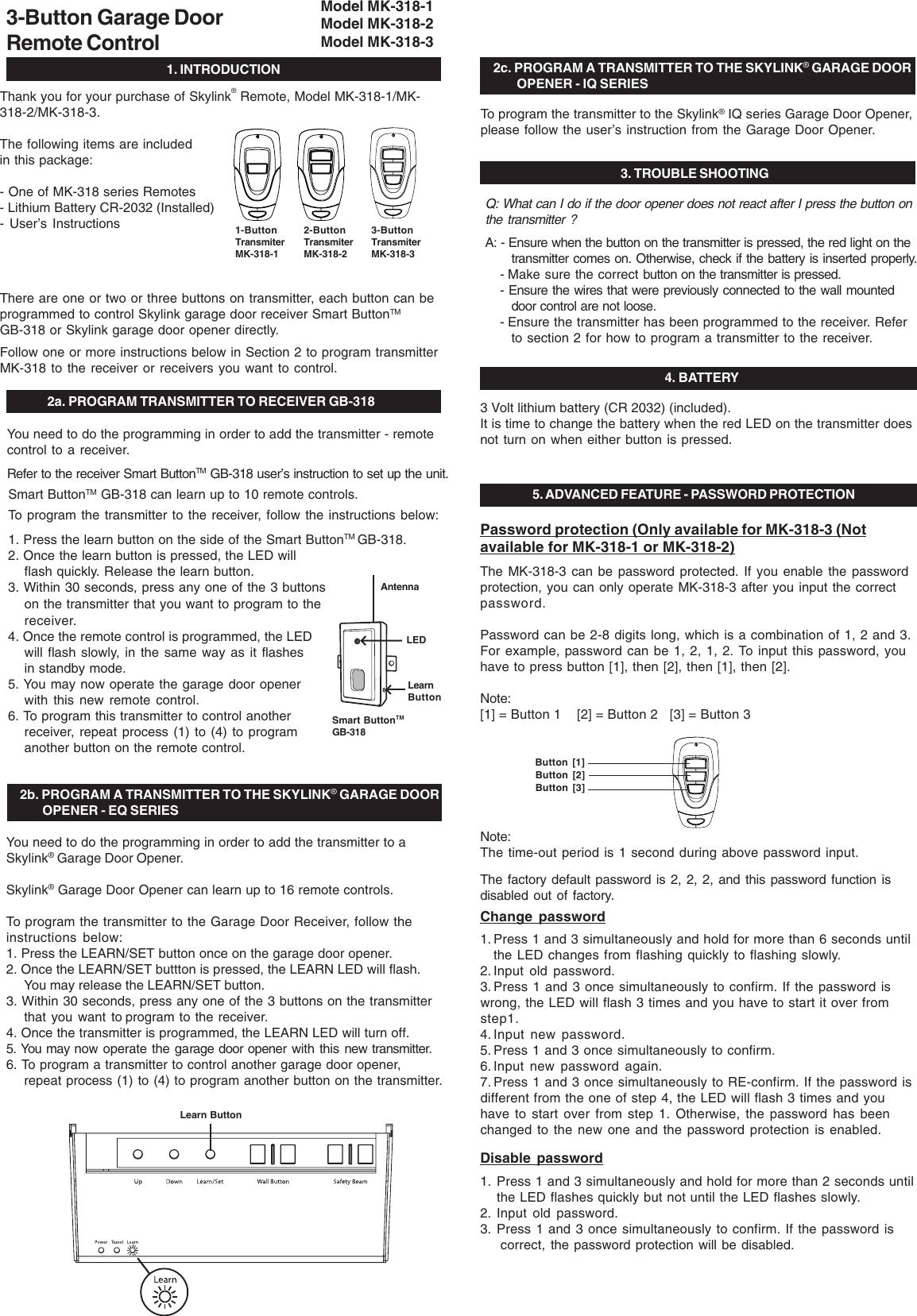 Skylink Mk 318 3 Users Manual Mg6t2
