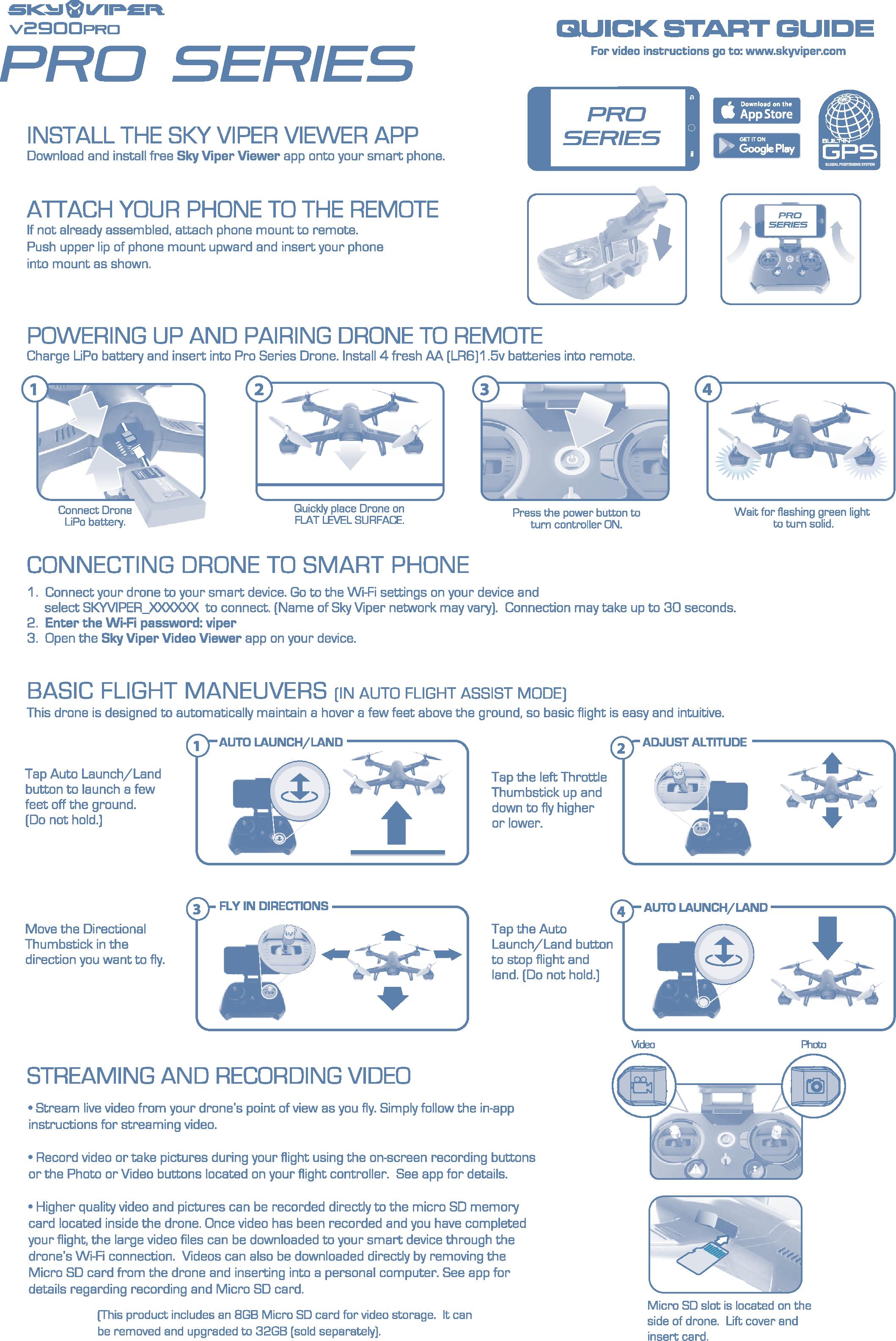 skyrocket toys 01602rx24g sky viper pro series video drone drone rh usermanual wiki Online User Guide Kindle Fire User Guide