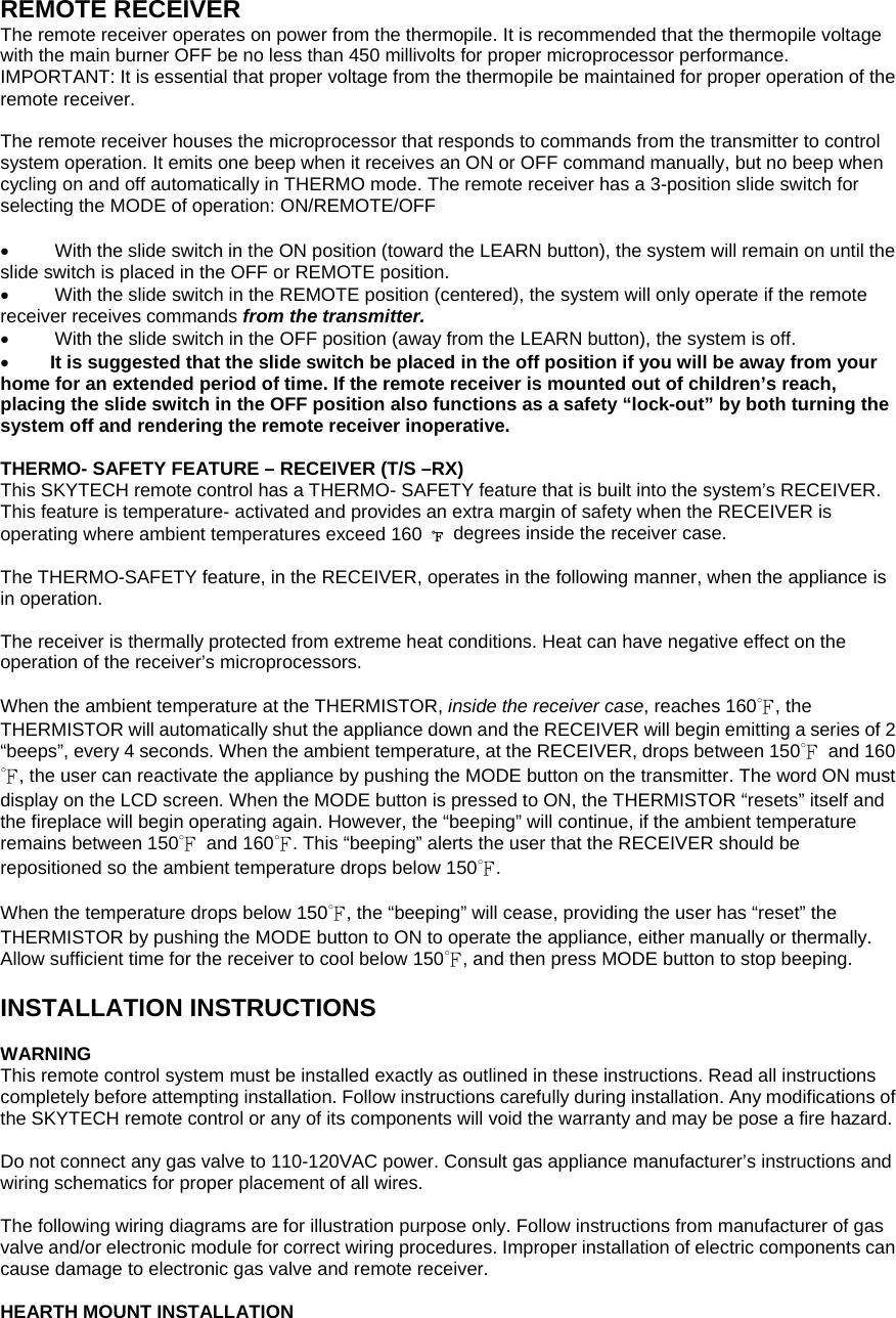 Skytech Ii 3301be Receiver User Manual Slide Valve Wiring Diagram