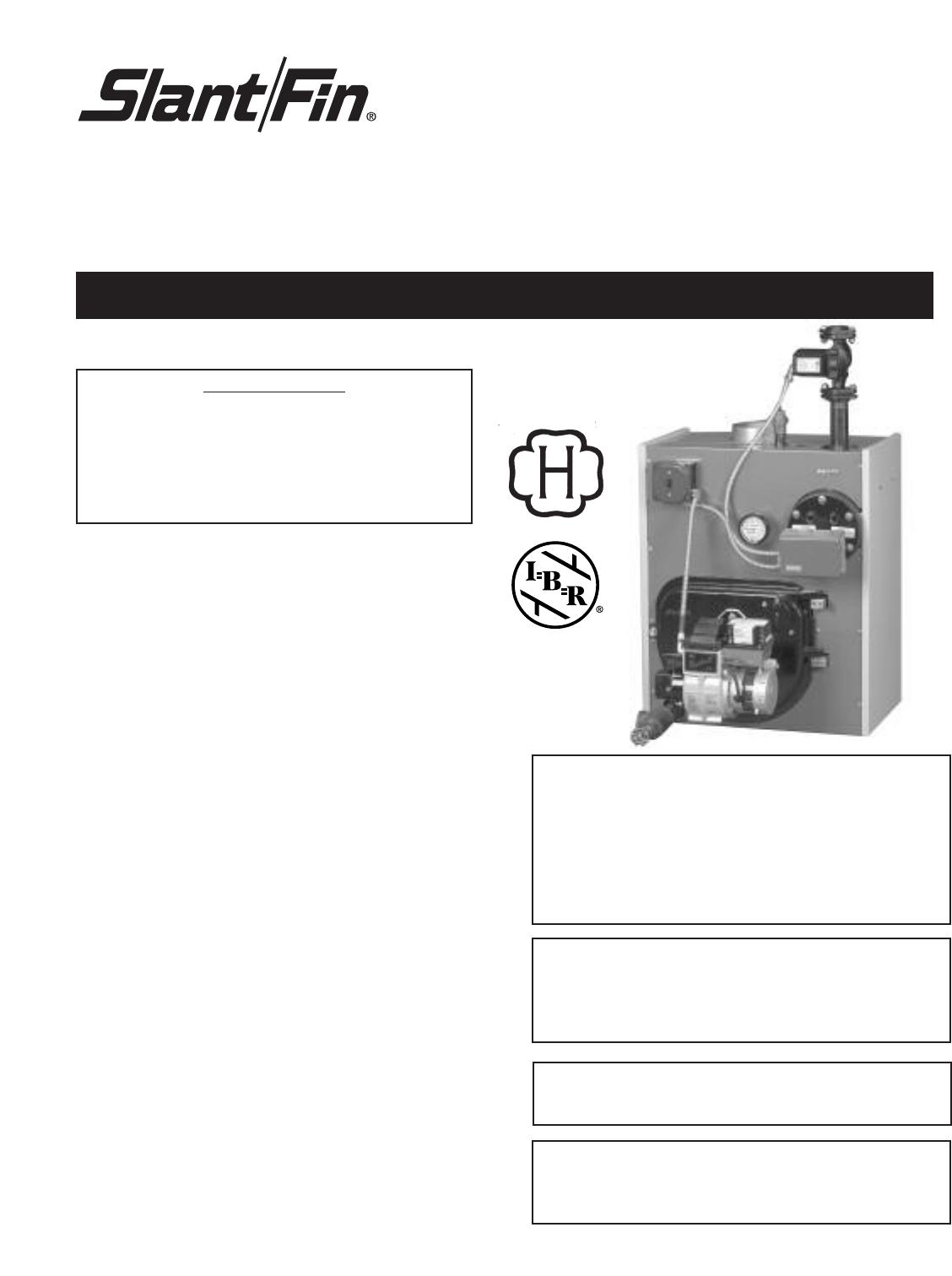Slant Fin Intrepid Oil Fired Boiler Users Manual Ld 40 Wiring Diagram
