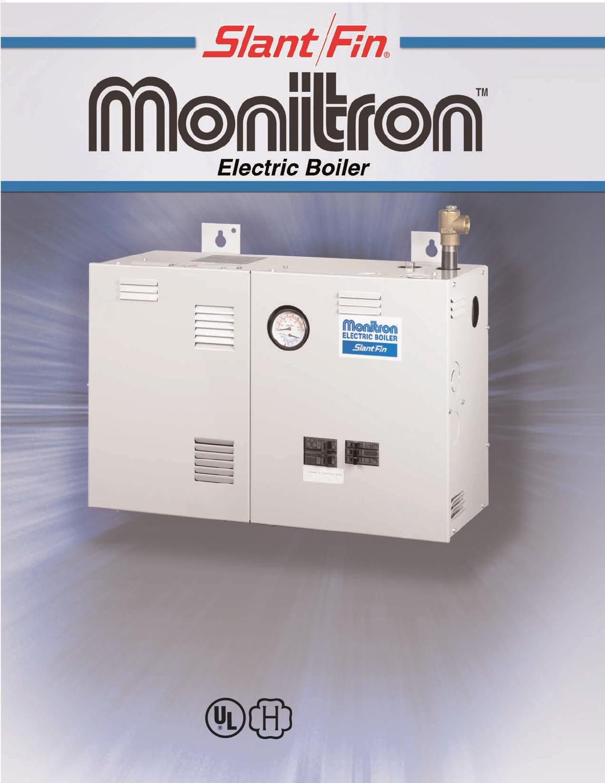 Slant Fin Monitron Eh Boilers Users Manual