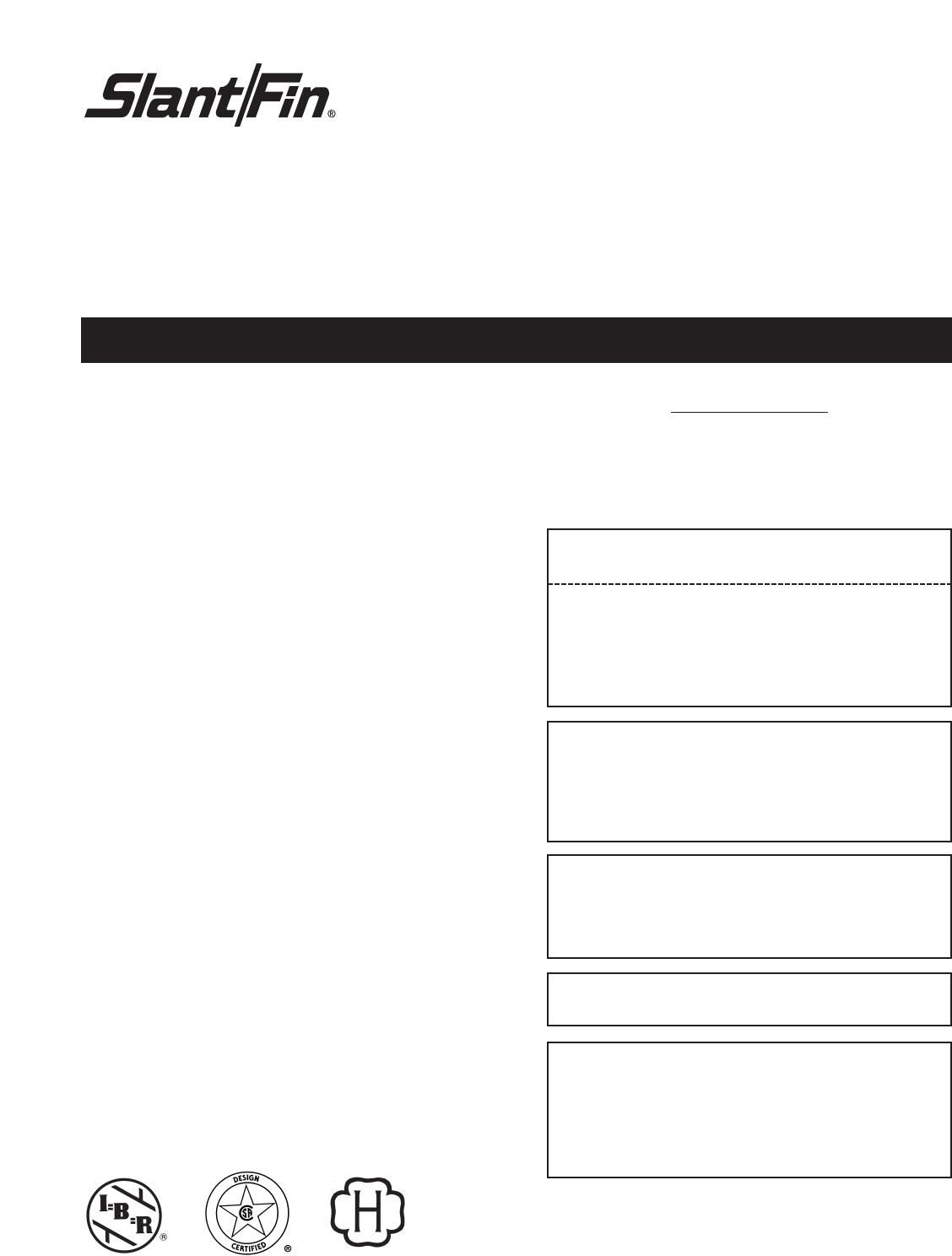 Slant Fin V 180 Users Manual Boiler Wiring Diagram