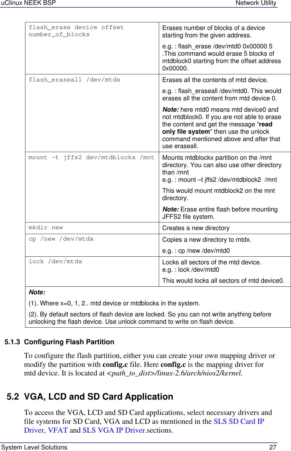 Sls Audio Uclinux Users Manual NEEK BSP