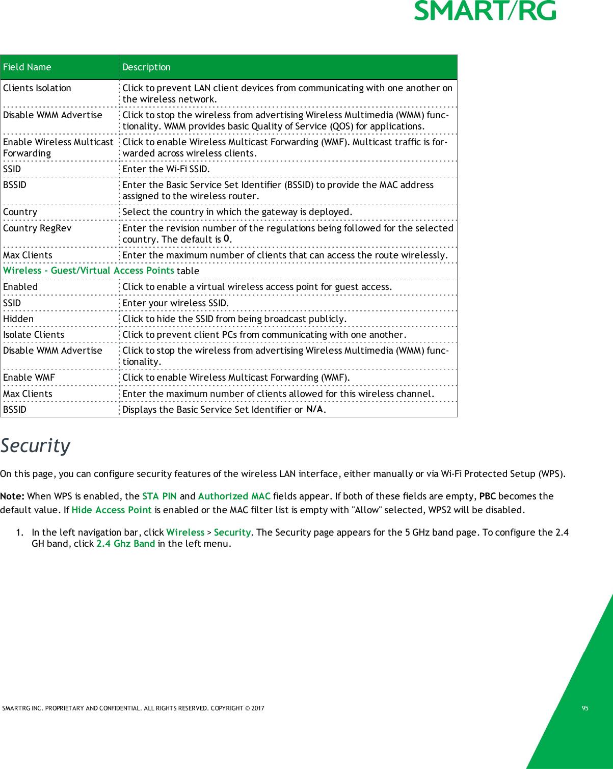 SmartRG SR700A 802 11ac LTE/VDSL2 GATEWAY User Manual My