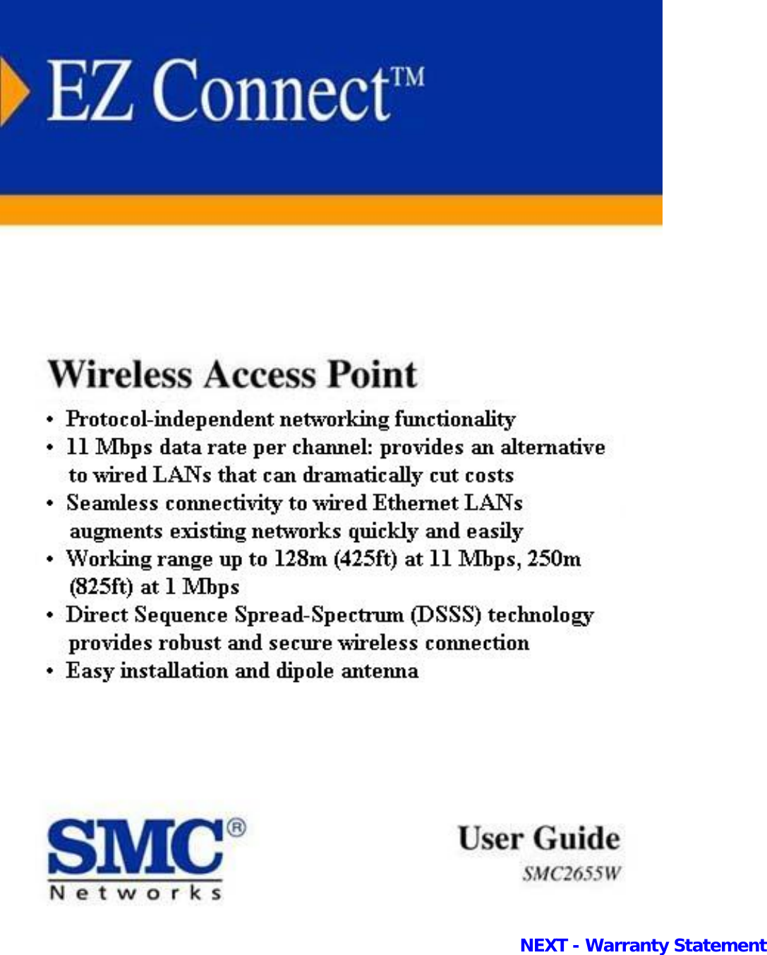 Smc Networks Ez Connect Smc2655W Users Manual Introduction