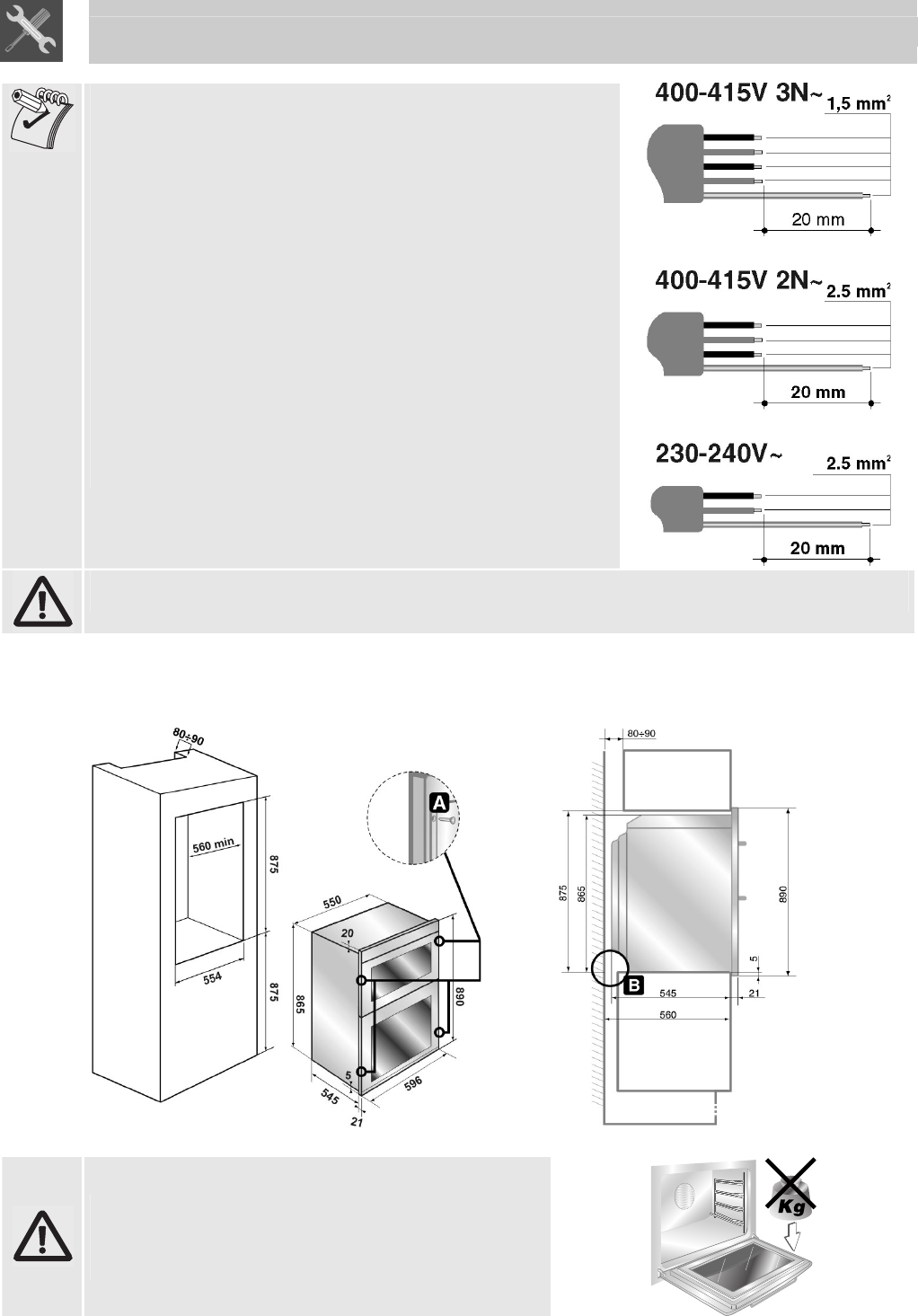 Smeg Sdo10 Instructions For Installation And Use Wiring Diagram Oven The Installer