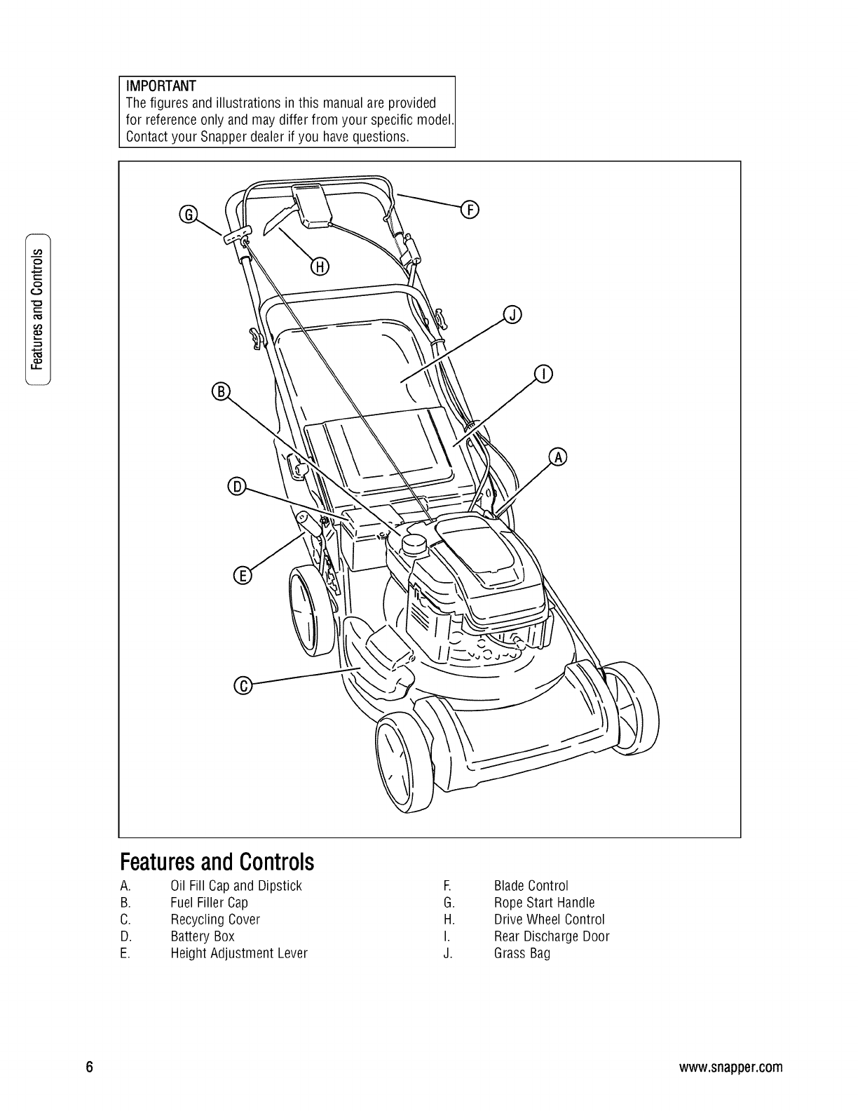 Snapper 7800179 Spv21675 User Manual Lawn Mower Manuals And Guides Wiring Harness Important