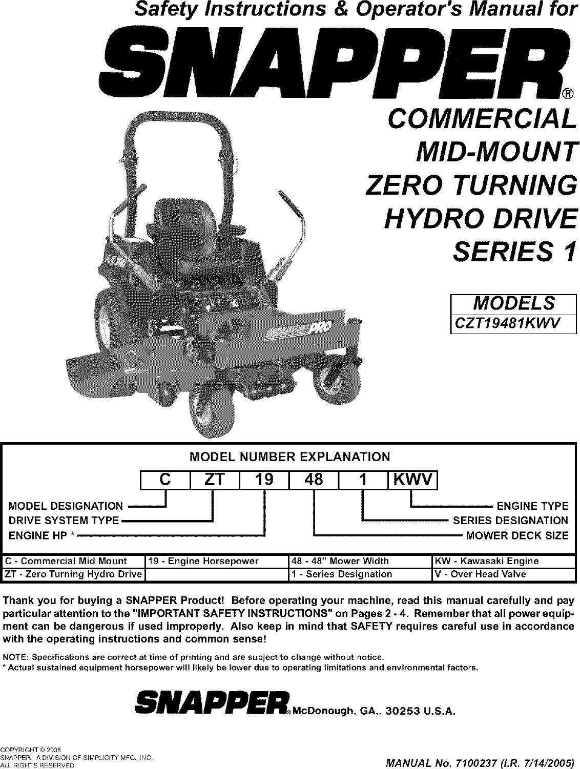 Download User U0026 Service Manuals For Your Zero Turn Mower Manual Guide