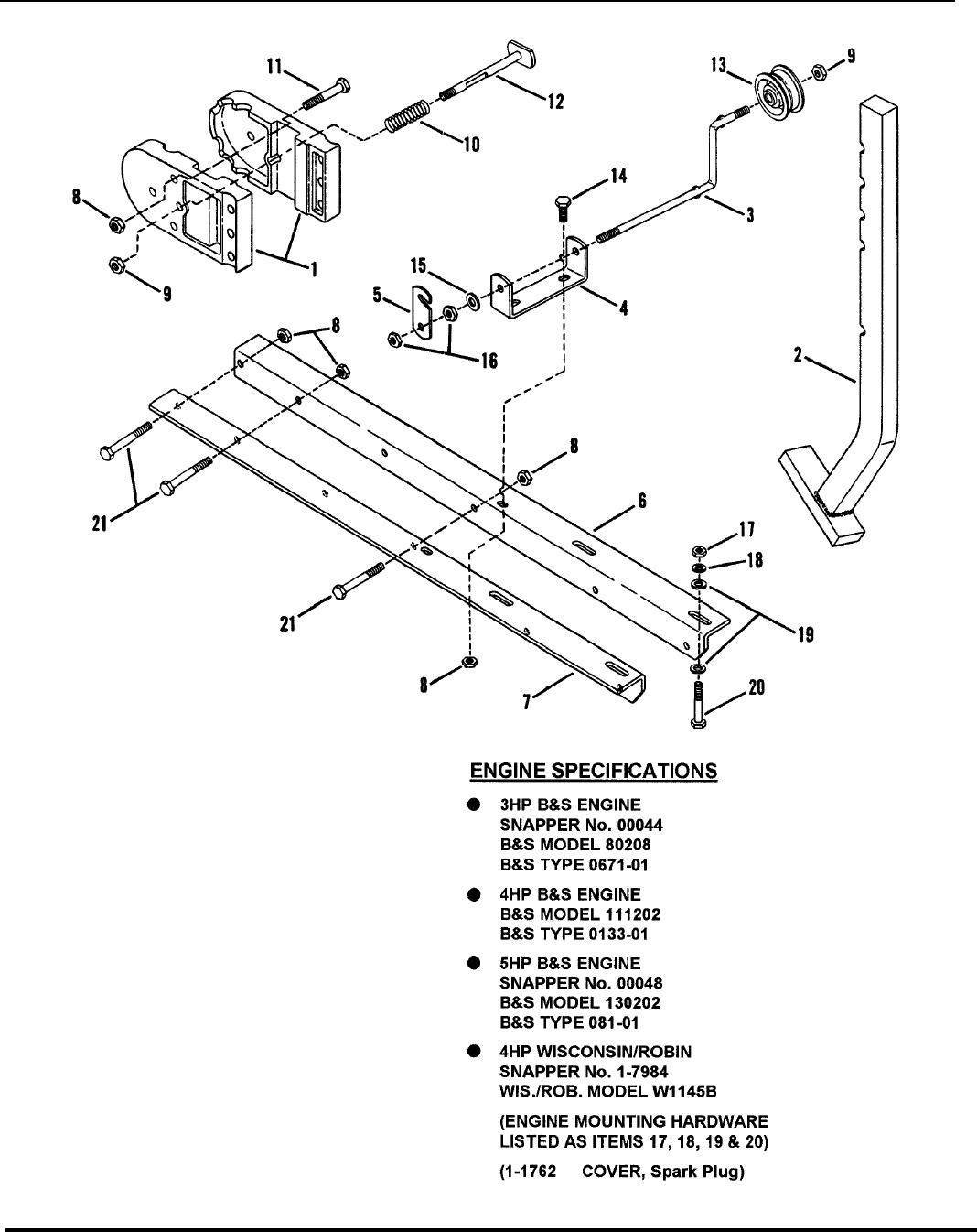 snapper 500trc users manual partsmanual Simple Engine Diagram frame skid arm