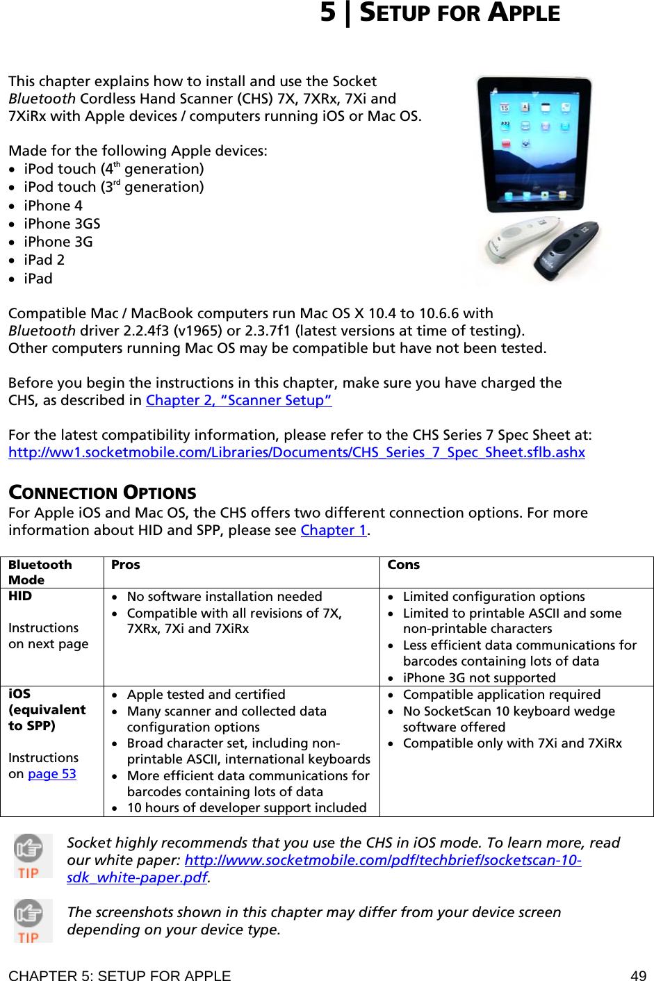 Socket Mobile CHS3 Cordless Hand Scanner User Manual