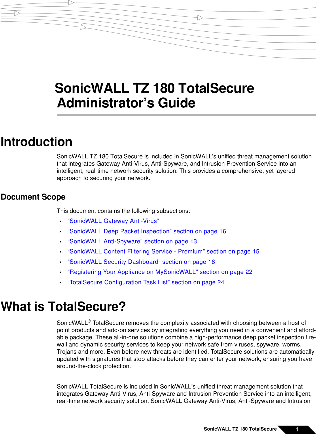 Sonicwall Home Security System Tz 180 Users Manual