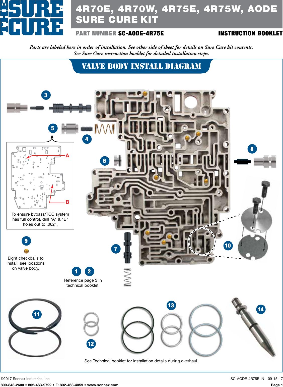 4r75e Valve Body Diagram Wiring Diagram Gp