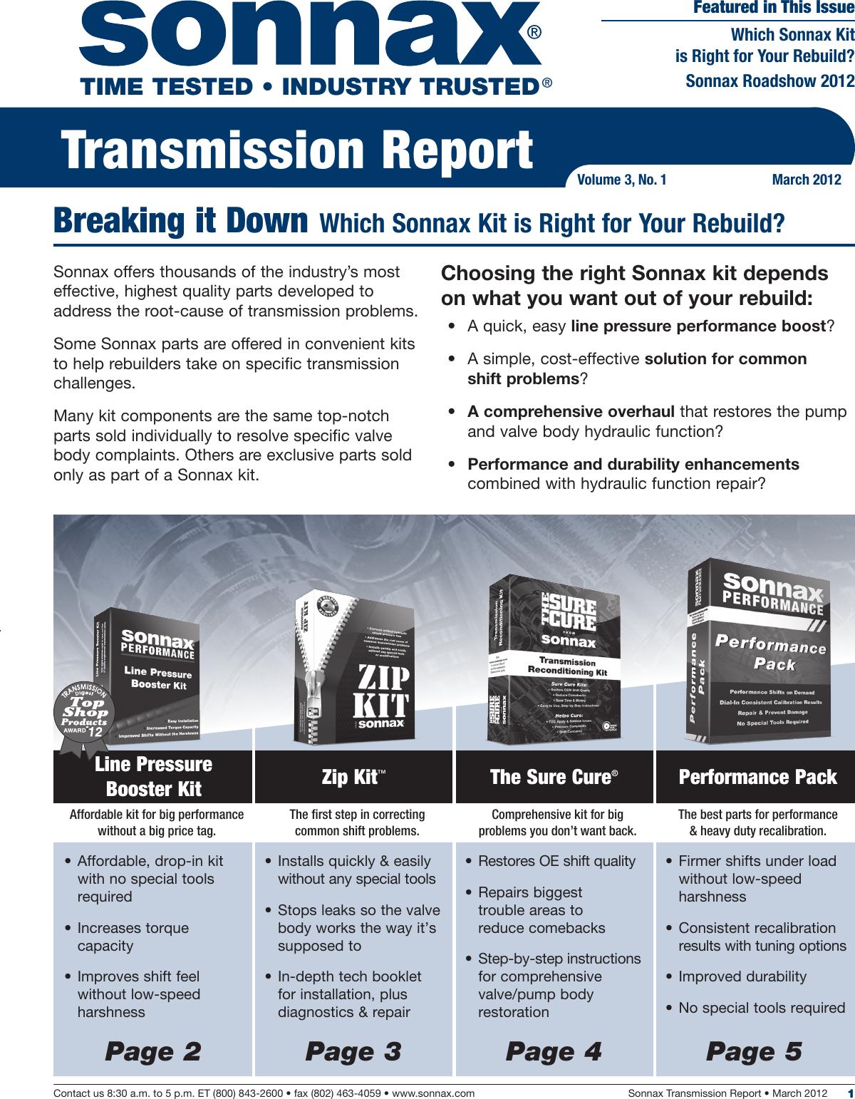 Sonnax Trans Report V3n1