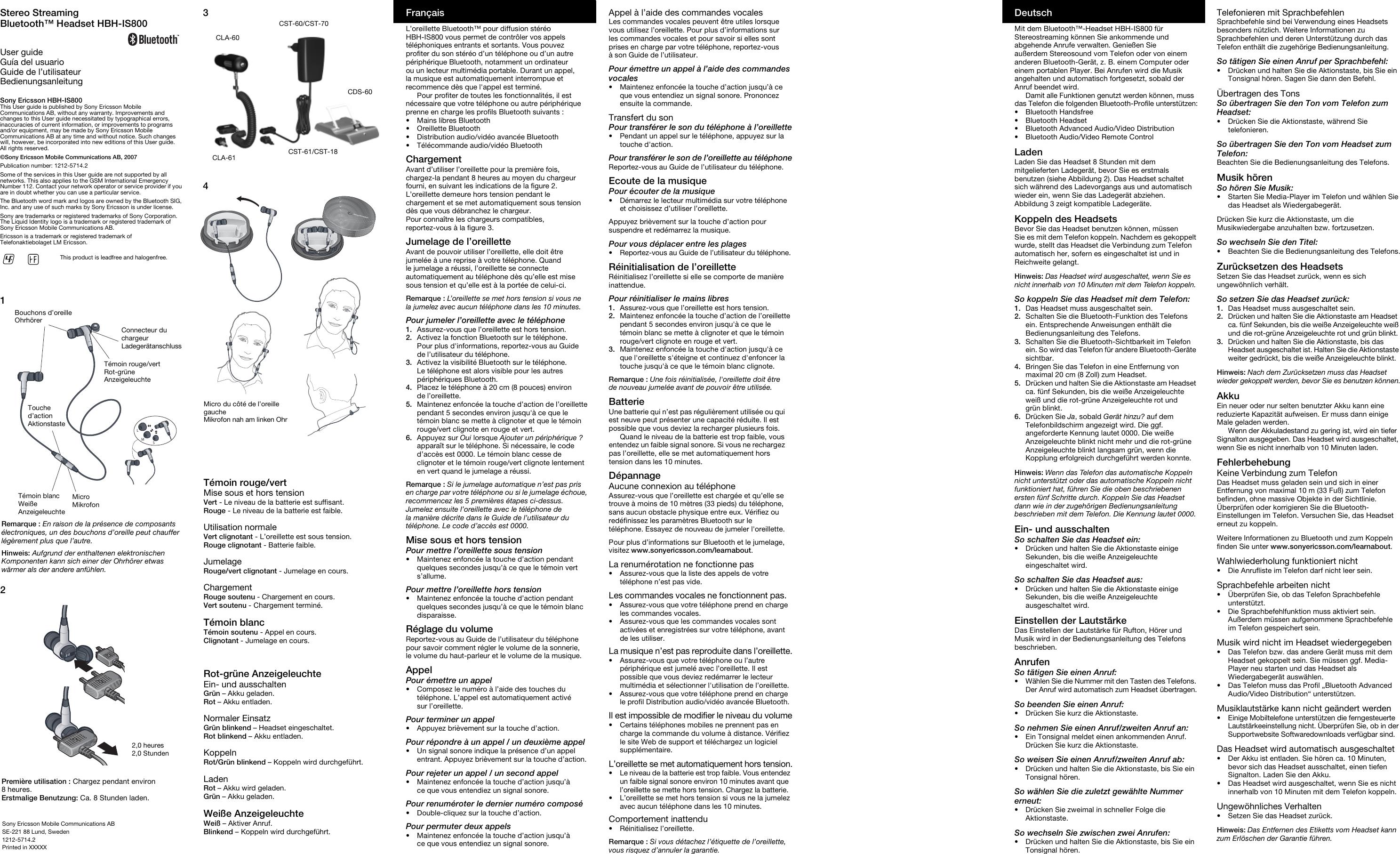 sony ericsson bluetooth manual