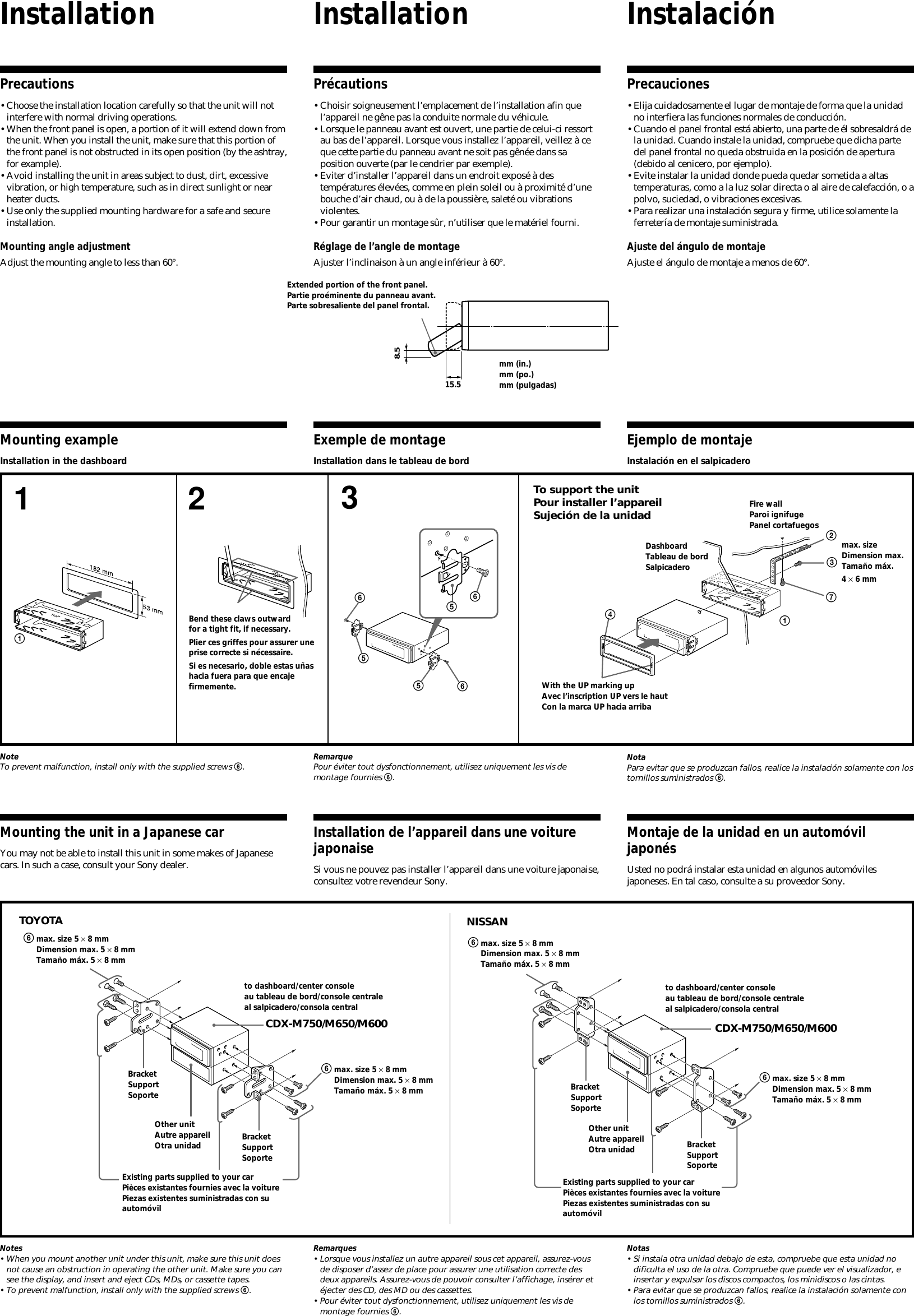 Sony Cdx M600 Wiring Diagram Schematics M610 M750 M650 User Manual Installation Connection Color